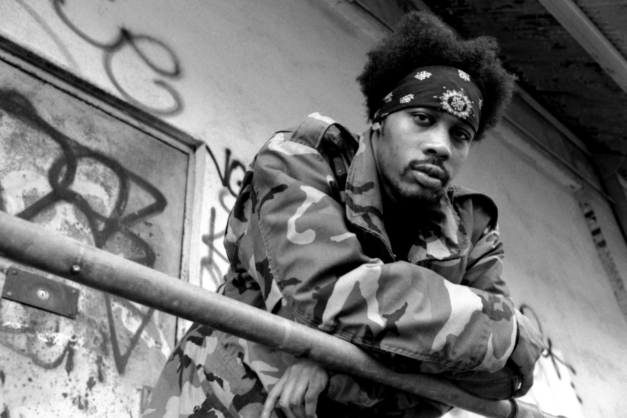 UNITED STATES - CIRCA 1995: Photo of RZA, RZA of Wu Tang Clan/Gravediggaz in NYC 1995 Photo by Michael Ochs Archives/Getty Images