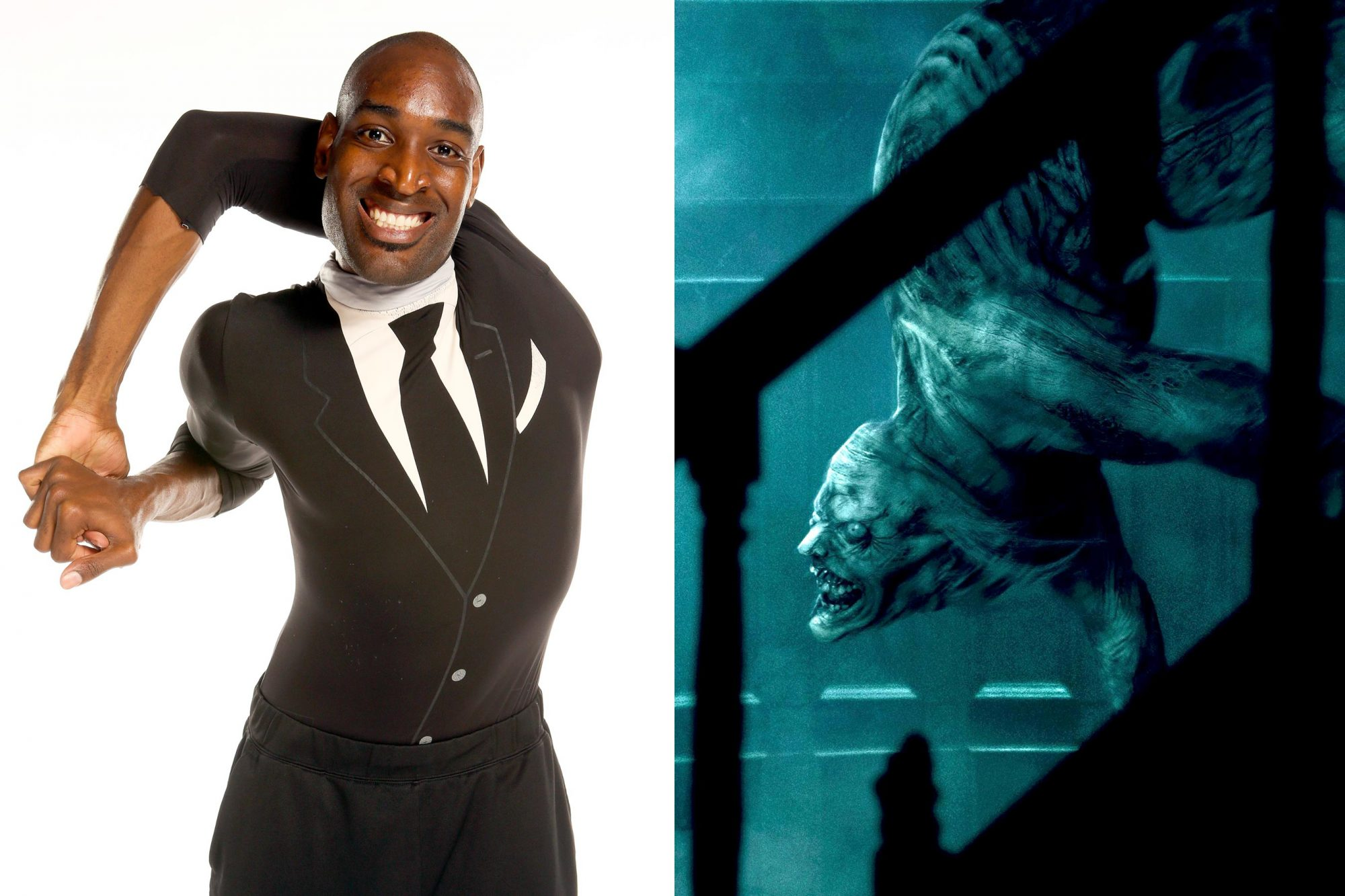 """AMERICA'S GOT TALENT -- """"Contestant Gallery"""" Episode 1305-- Pictured: Troy James -- (Photo by: Vivian Zink/NBC/NBCU Photo Bank via Getty Images) Scary Stories to Tell in the Dark Troy James as Jangly Man CR: CBS Films"""