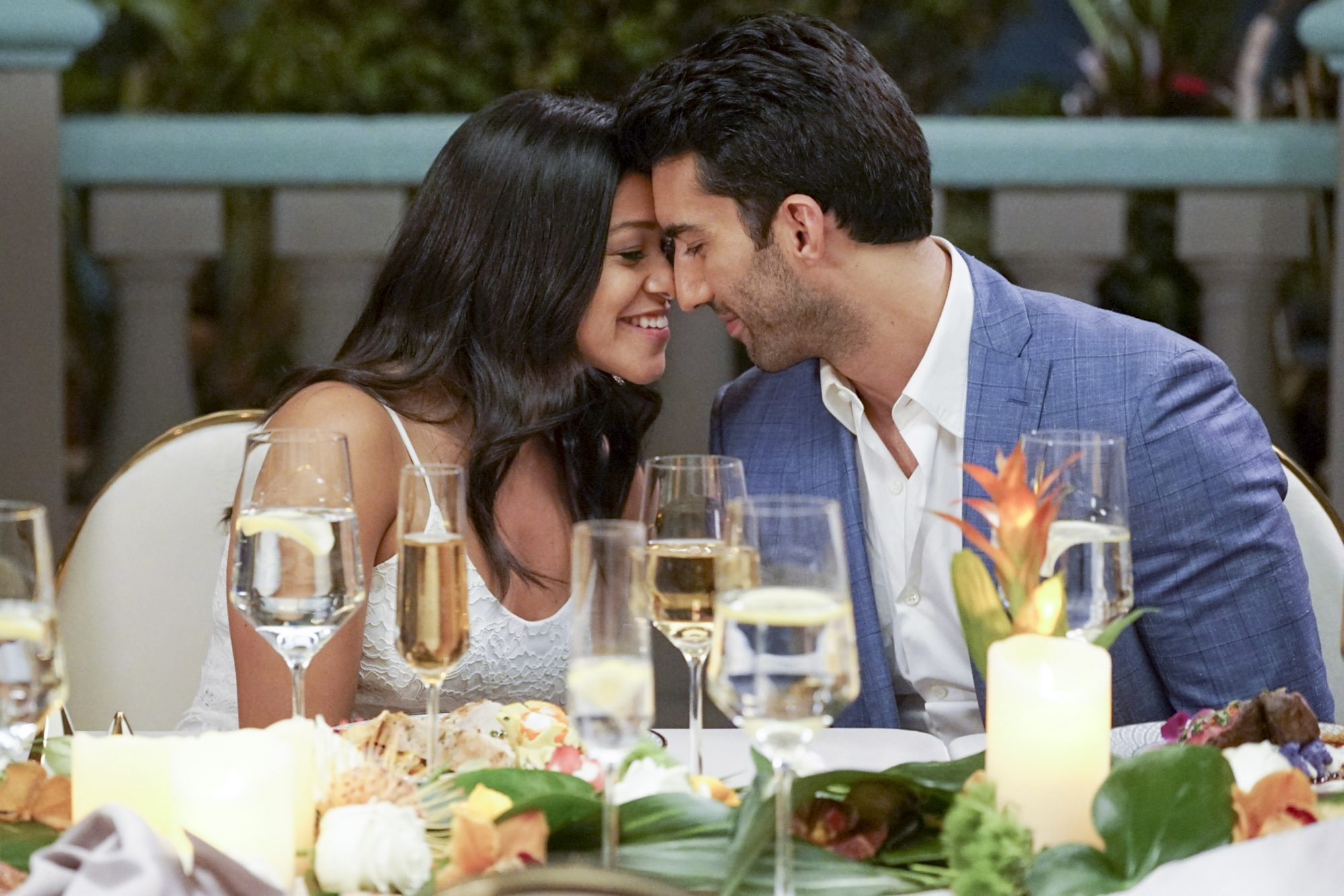 "Jane The Virgin -- ""Chapter One Hundred"" -- Image Number: JAV519a_1543.jpg -- Pictured (L-R): Gina Rodriguez as Jane and Justin Baldoni as Rafael -- Photo: Kevin Estrada/The CW -- © 2019 The CW Network, LLC. All Rights Reserved."