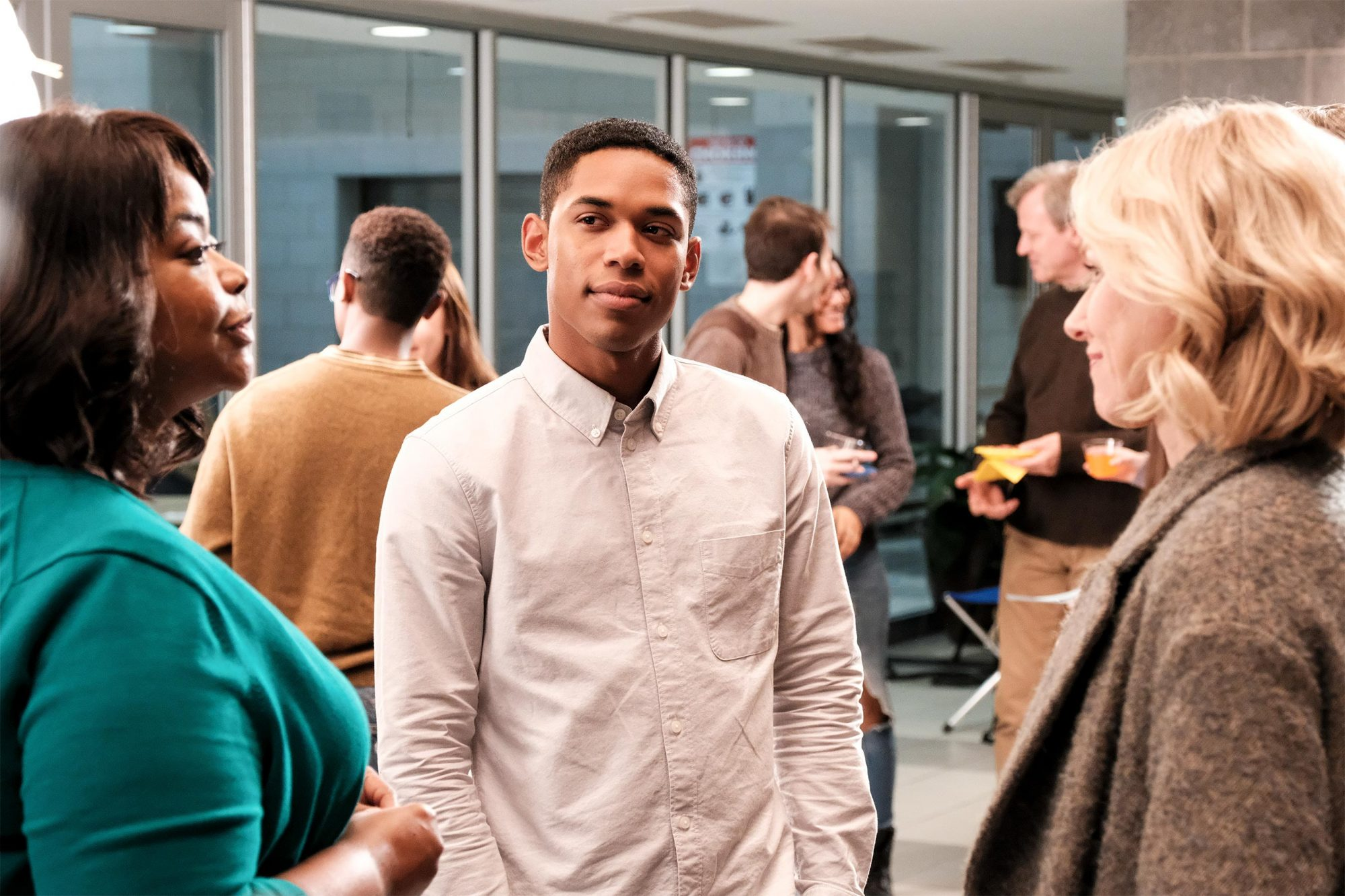 Harriet Wilson (Octavia Spencer), Luce (Kelvin Harrison Jr.) and Amy Edgar (Naomi Watts) in LUCE CR: Jon Pack/NEON