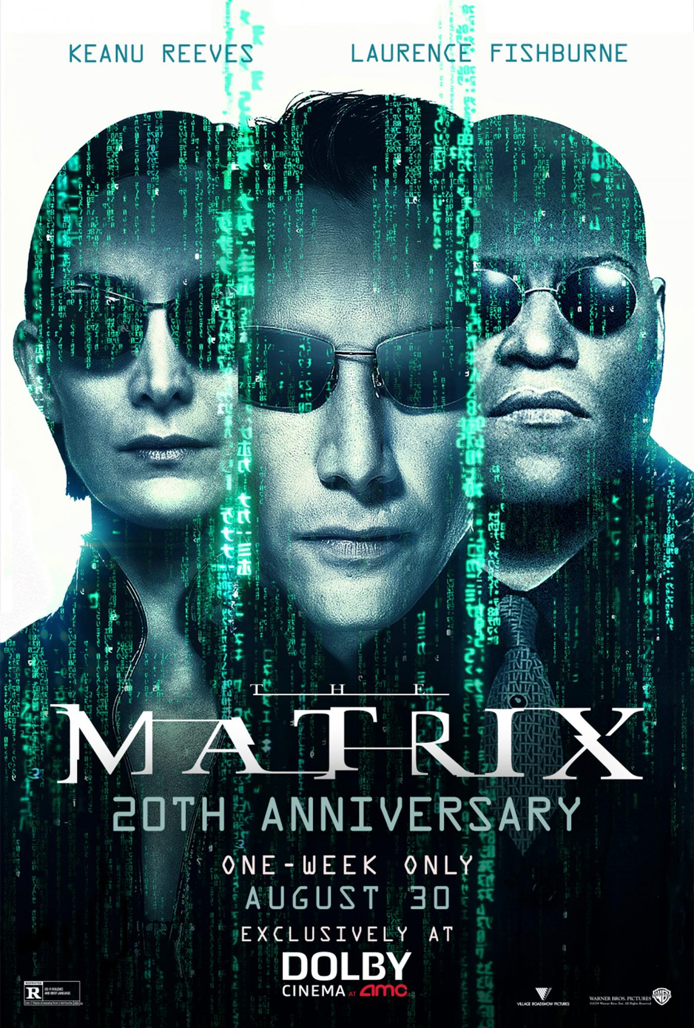The Matrix 20th Anniversary movie poster