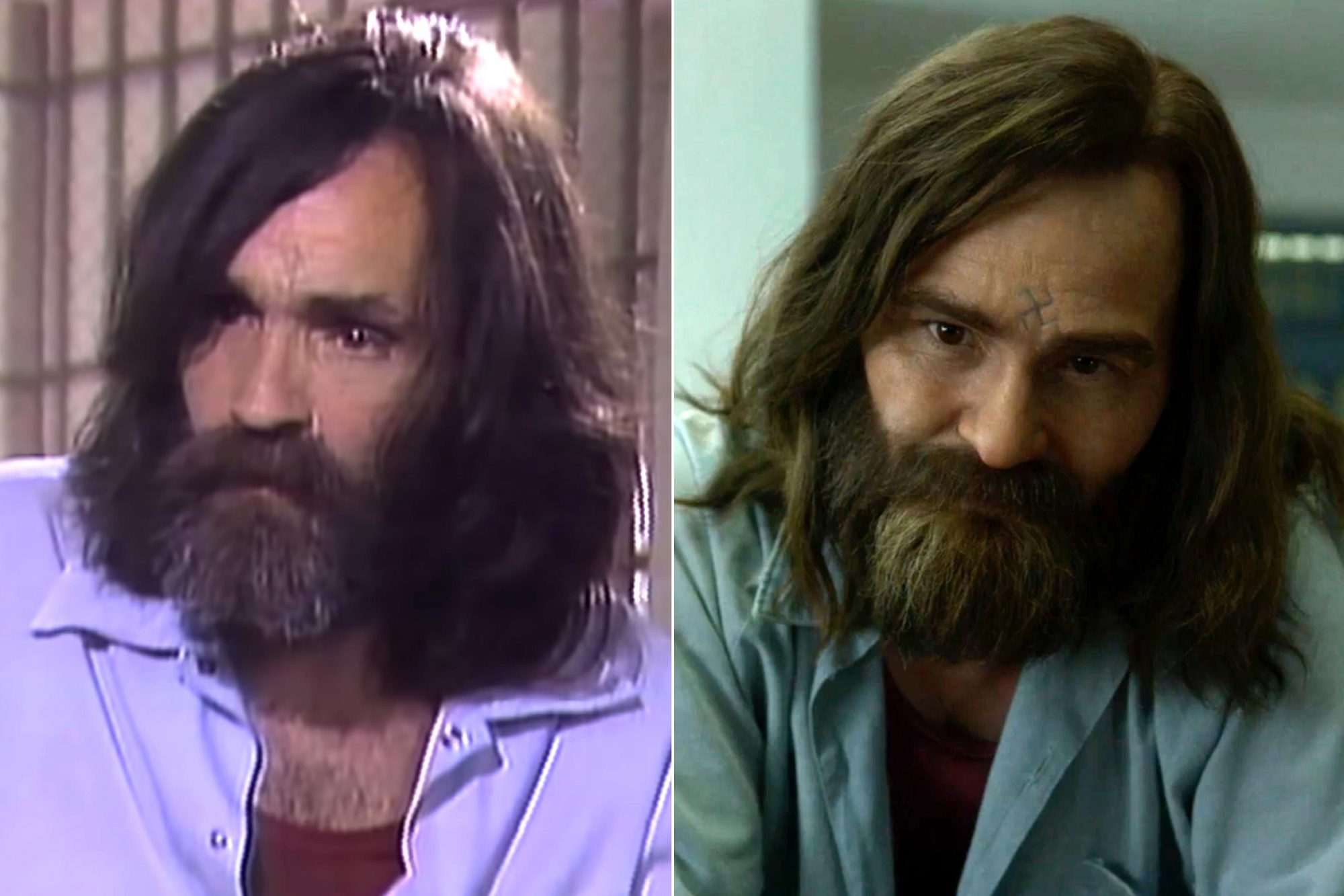 Charles Manson 60 Minutes Australia Interview https://www.youtube.com/watch?v=JbW0agGFv88 CR: 60 Minutes Australia/YouTube MINDHUNTER Season 2 Damon Herriman as Charles Manson CR: Netflix