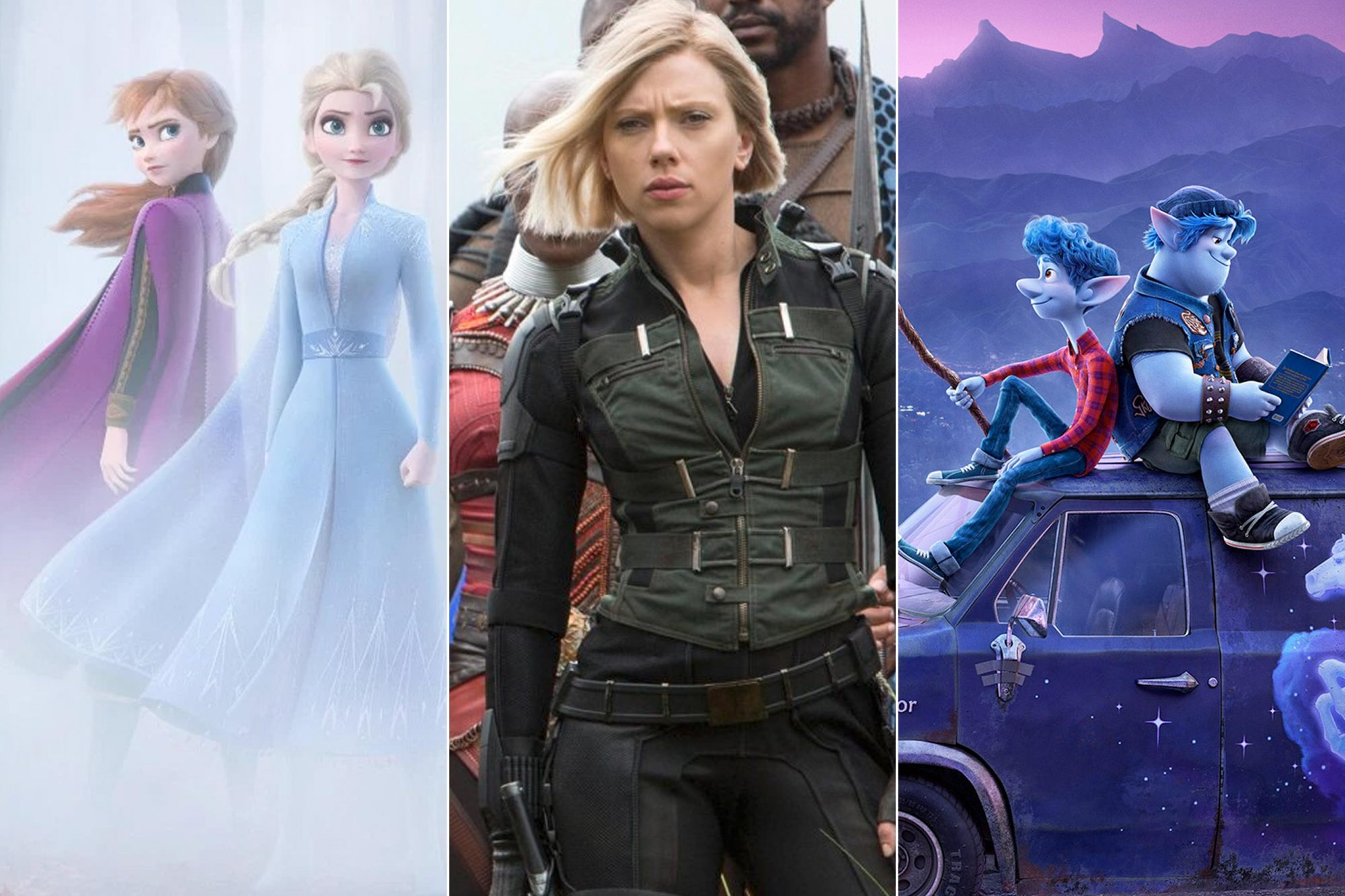 Frozen 2, Black Widow, Onward