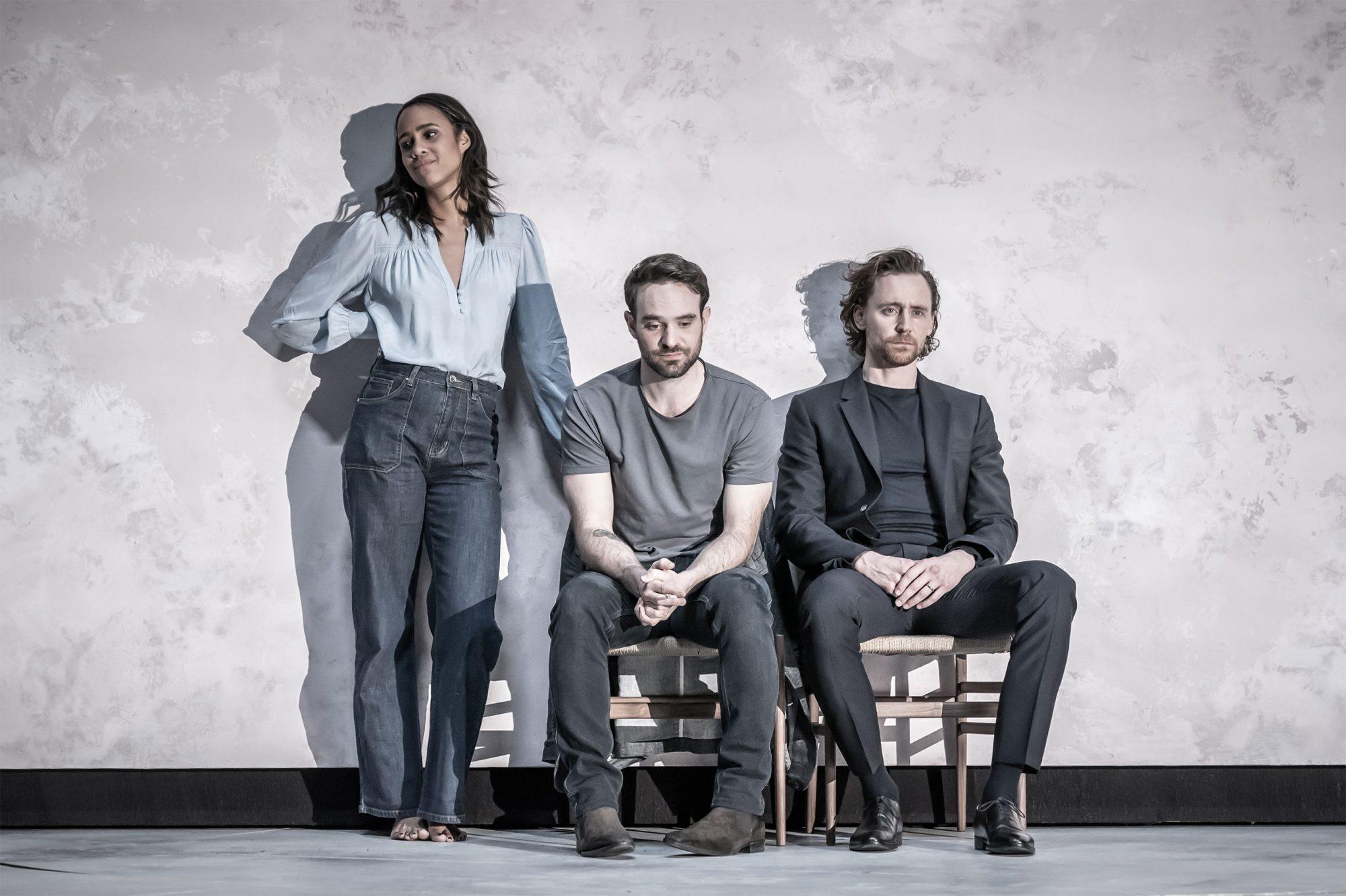 Zawe Ashton, Charlie Cox, and Tom-Hiddleston in Betrayal