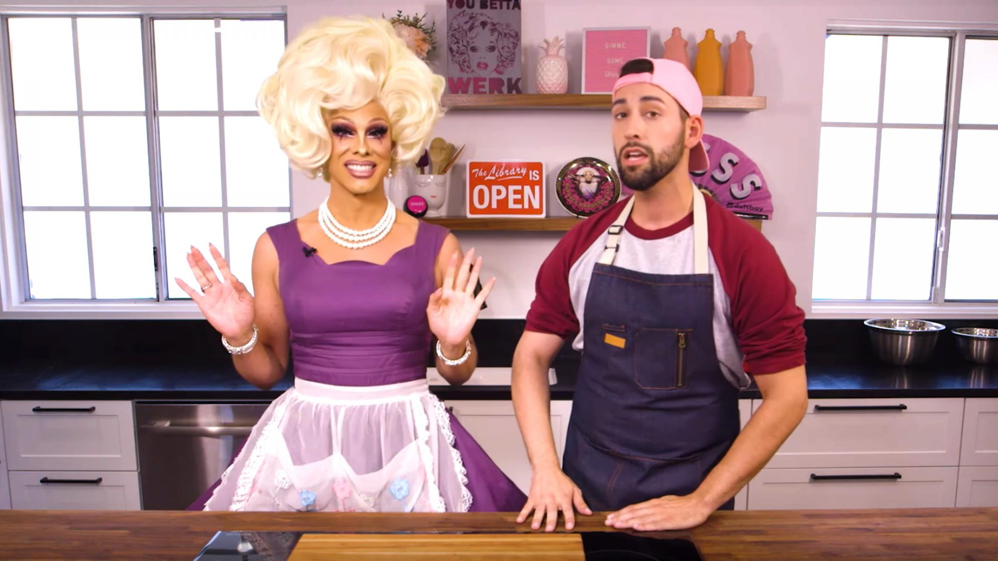 Gimme Some Shuga with Shuga Cain & Justin: Miss Vanjie Cake - Coming Soon To WOW Presents Plus! (screen grab) https://www.youtube.com/watch?v=GvBmB891Tcg CR: WOWPresents/YouTube