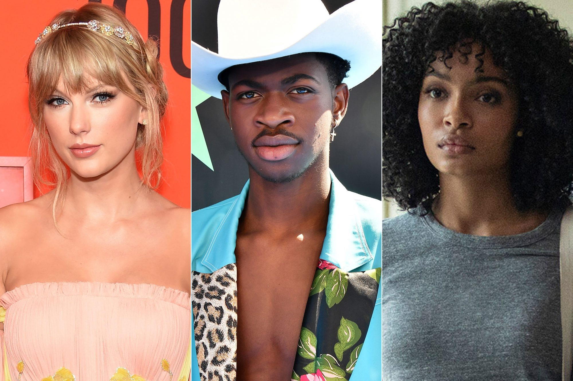 NEW YORK, NY - APRIL 23: Taylor Swift attends the 2019 Time 100 Gala at Frederick P. Rose Hall, Jazz at Lincoln Center on April 23, 2019 in New York City. (Photo by Jamie McCarthy/WireImage) LOS ANGELES, CALIFORNIA - JUNE 23: Lil Nas X attends the 2019 BET Awards at Microsoft Theater on June 23, 2019 in Los Angeles, California. (Photo by Paras Griffin/Getty Images) Daniel Bae-CHARLES MELTON; Natasha Kingsley-YARA SHAHIDI The sun is a star Atsushi Nishijima/Warner Bros.