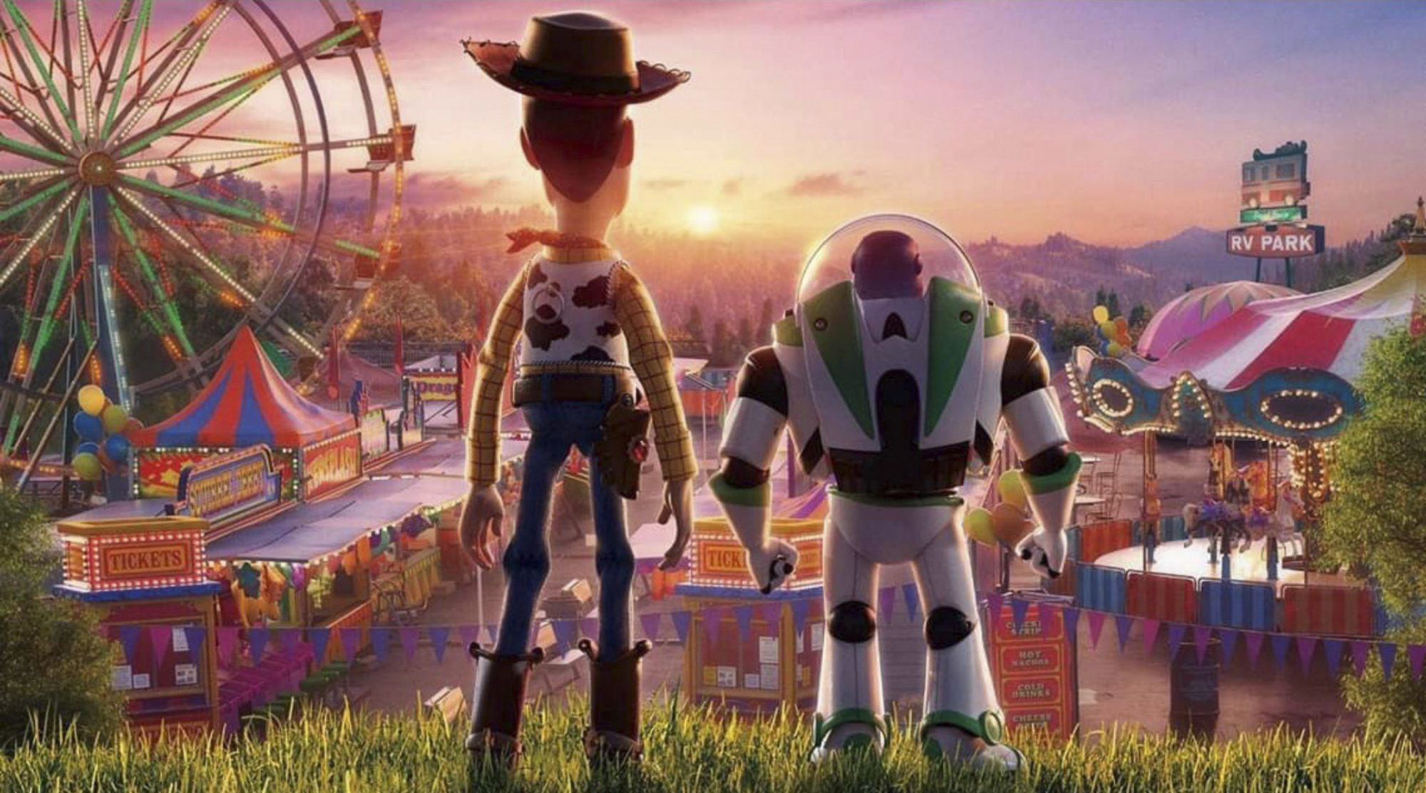 Toy Story 4 Tom Hanks as Woody and Tim Allen as Buzz Lightyear https://twitter.com/CooleyUrFaceOff/status/1141948240763375616 CR: Disney/Pixar