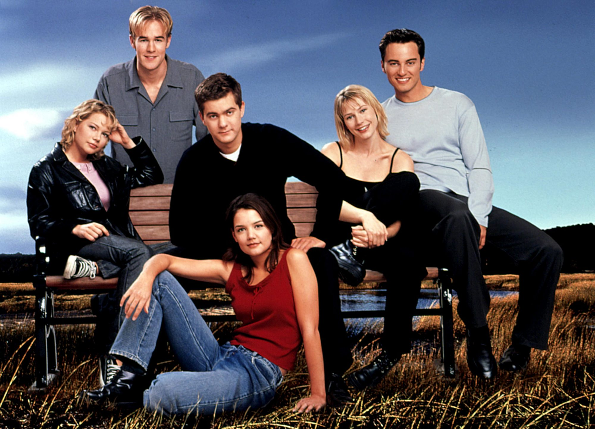DAWSON'S CREEK, 1998-present, Michelle Williams, James Van Der Beek, Joshua Jackson, Meredith Monroe