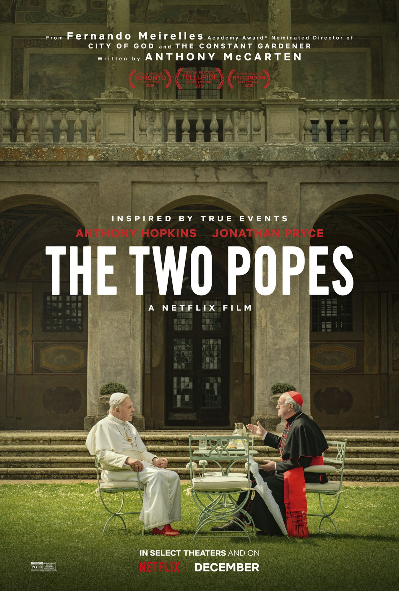 The Two Popes movie poster CR: Netflix