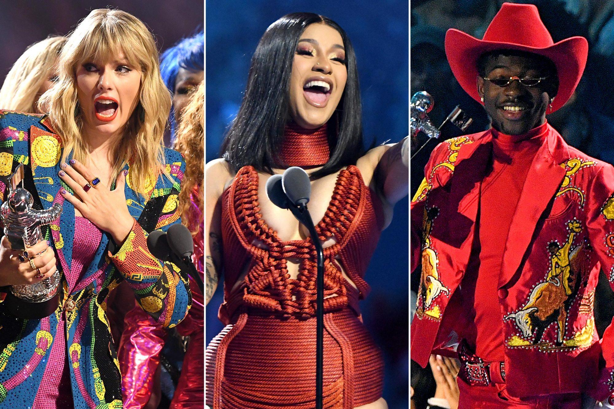VMA Winners Taylor Swift, Cardi B, Lil Nas X