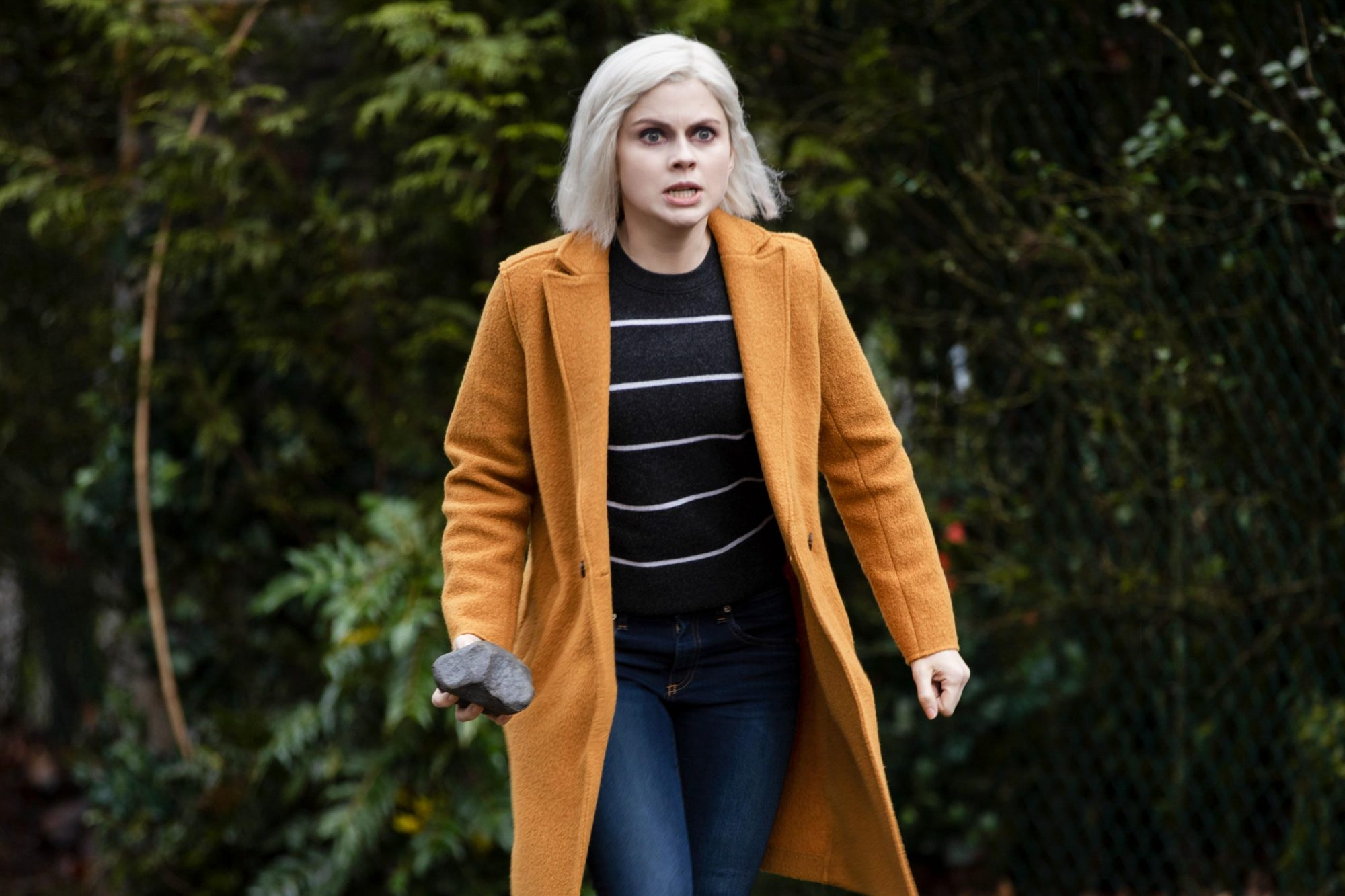 """iZombie -- """"All's Well That Ends Well"""" -- Image Number: ZMB513a_0107b.jpg -- Pictured: Rose McIver as Liv -- Photo Credit: Jack Rowand/The CW -- © 2019 The CW Network, LLC. All Rights Reserved."""