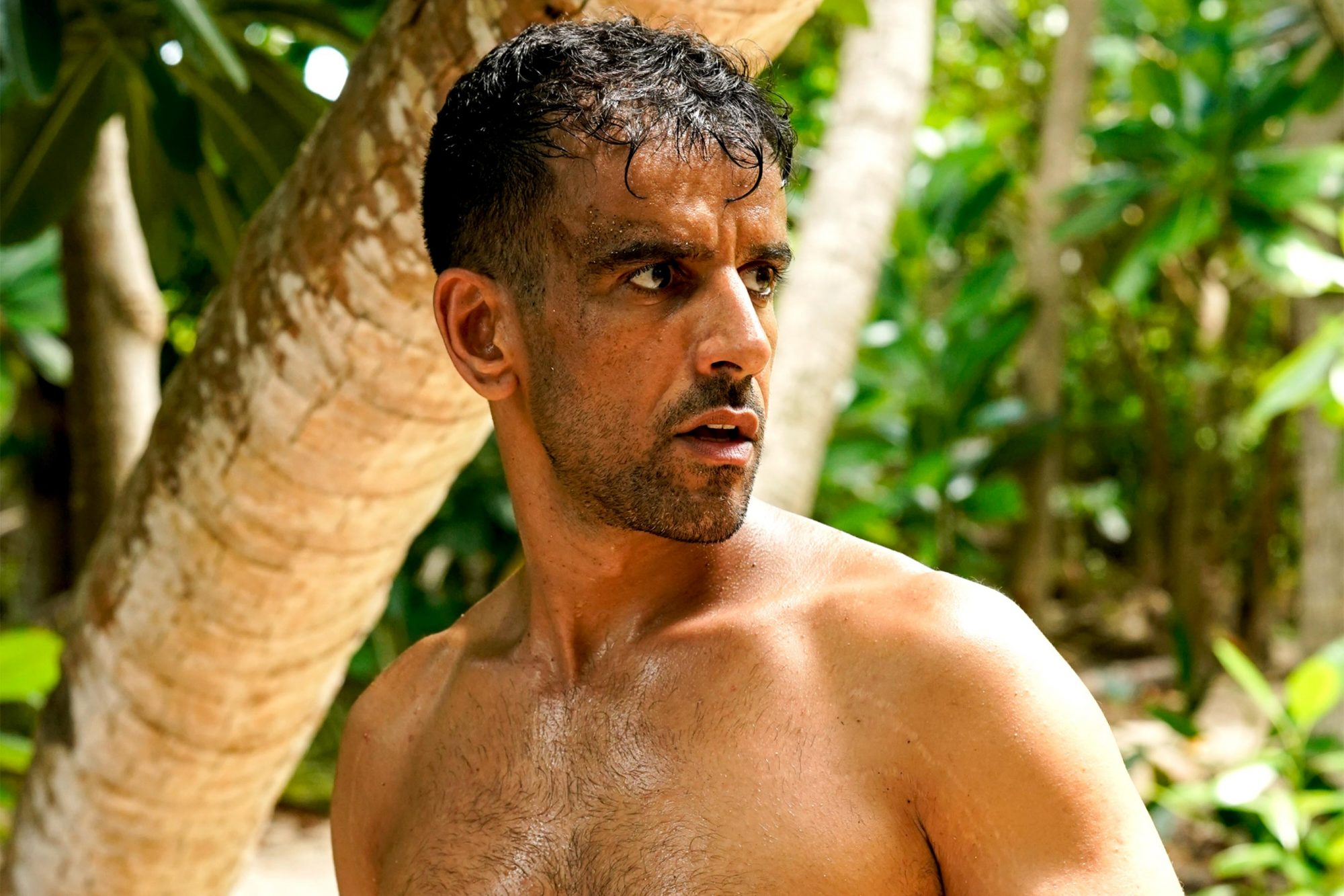 """""""I Vote You Out and That's It"""" - Ronnie Bardah on SURVIVOR: Island of Idols when the Emmy Award-winning series returns for its 39th season with a special 90-minute premieres Wednesday, Sept. 25 (8:00-9:30 PM, ET/PT) on the CBS Television Network. Photo: Robert Voets/CBS Entertainment ©2019 CBS Broadcasting, Inc. All Rights Reserved."""