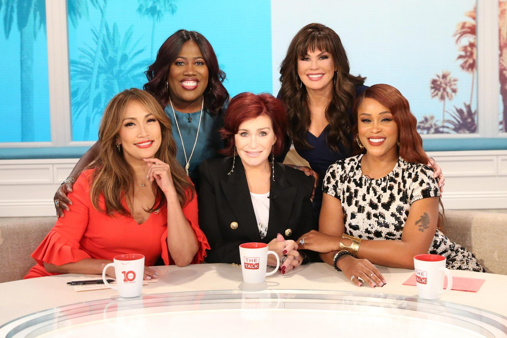 "The ladies of ""The Talk,"" September 9, 2019 on the CBS Television Network. From left, Sheryl Underwood, Carrie Ann Inaba, Sharon Osbourne, Eve and Marie Osmond, shown. Former NBA star and author Kobe Bryant discusses his new book on ""The Talk,"" Monday, September 9, 2019 on the CBS Television Network. From left, Sheryl Underwood, Carrie Ann Inaba, Kobe Bryant, Sharon Osbourne, Eve and Marie Osmond, shown. Photo: Sonja Flemming/CBS ©2019 CBS Broadcasting, Inc. All Rights Reserved"