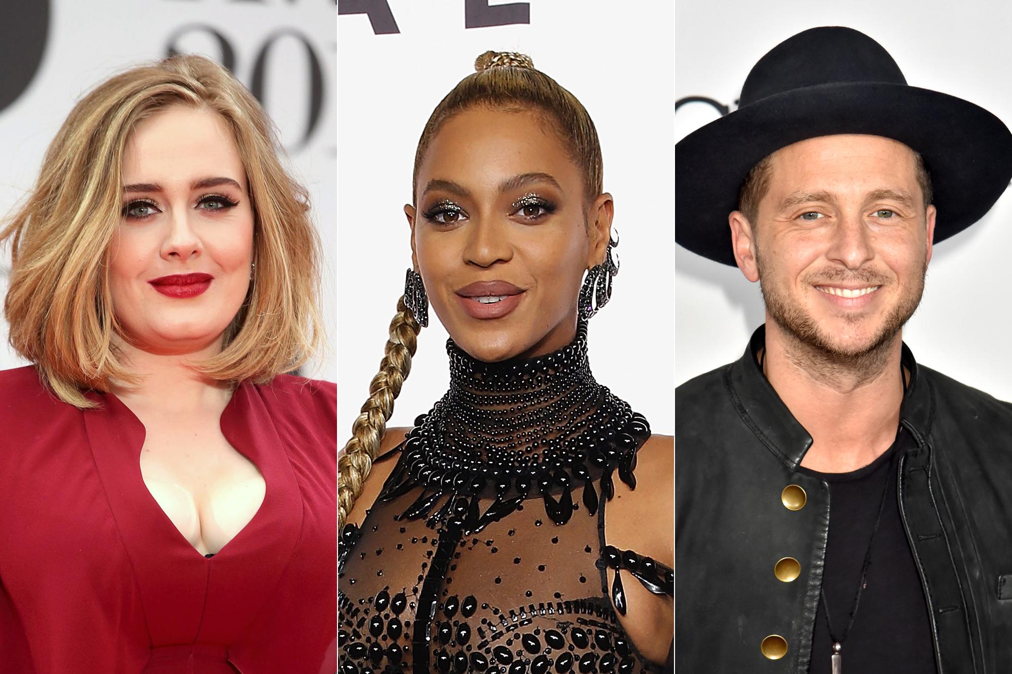Adele; Beyonce, Ryan Tedder of OneRepublic