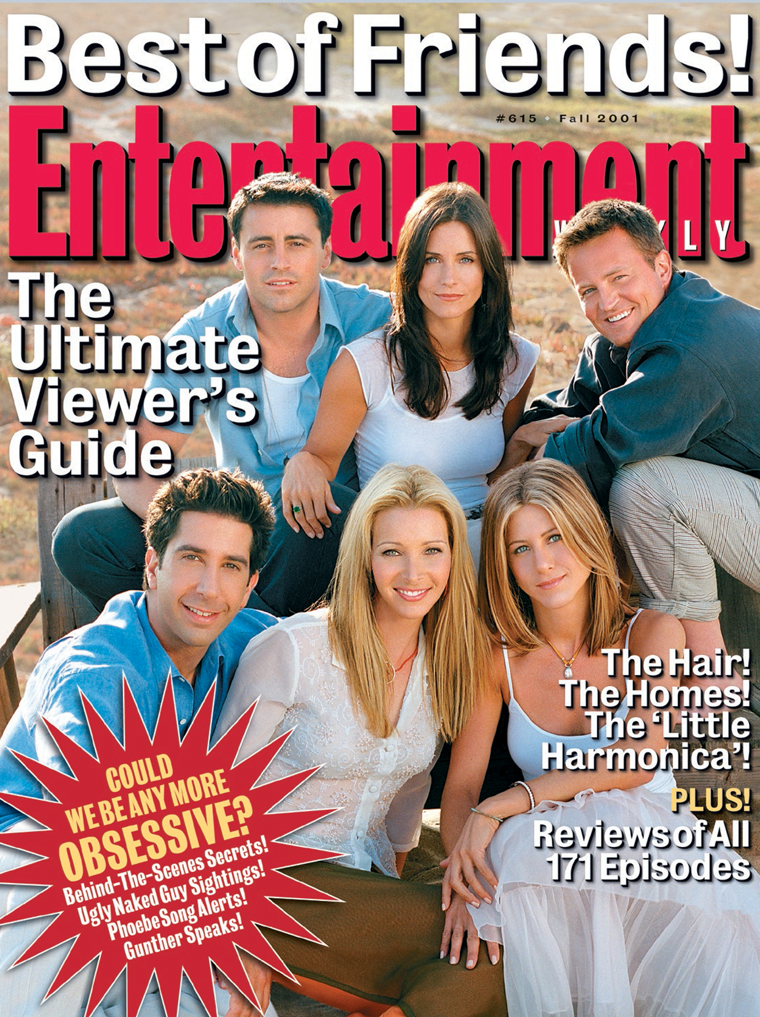 Entertainment Weekly coverIssue# 615 - 9/15/2001Friends