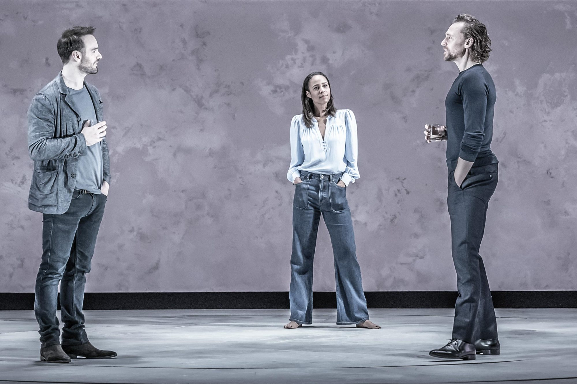 Betrayal Charlie Cox, Zawe Ashton, and Tom Hiddleston CR: Marc Brenner