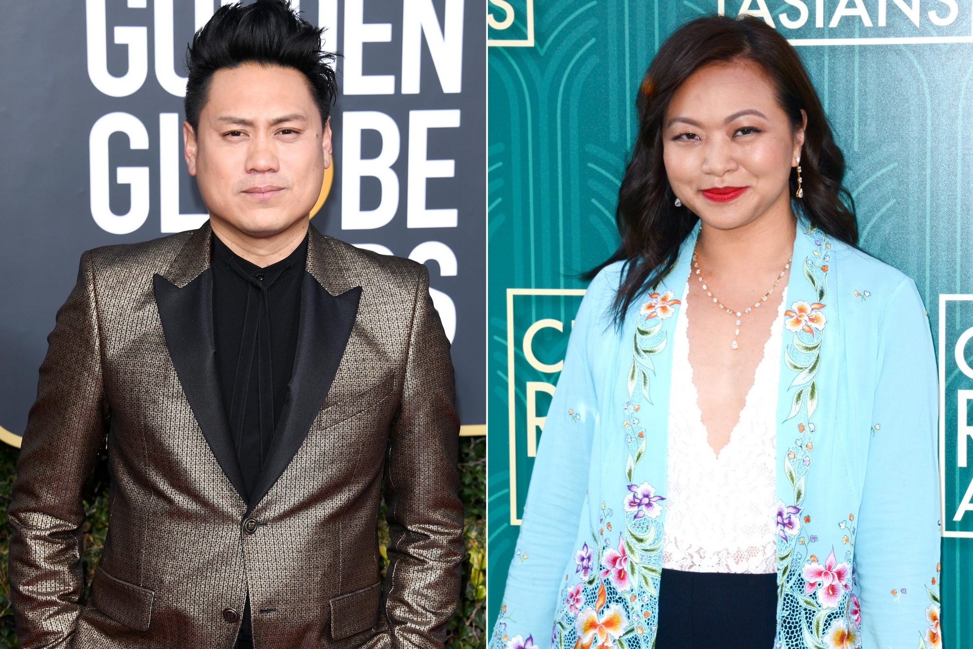 "BEVERLY HILLS, CA - JANUARY 06: Jon M. Chu attends the 76th Annual Golden Globe Awards at The Beverly Hilton Hotel on January 6, 2019 in Beverly Hills, California. (Photo by Daniele Venturelli/WireImage) HOLLYWOOD, CA - AUGUST 07: Writer Adele Lim arrives for Warner Bros. Pictures' ""Crazy Rich Asians"" Premiere held at TCL Chinese Theatre IMAX on August 7, 2018 in Hollywood, California. (Photo by Albert L. Ortega/Getty Images)"