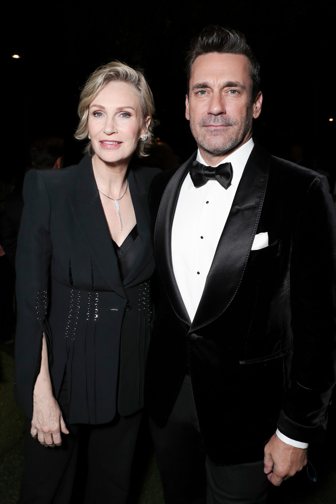 Jane Lynch and Jon Hamm