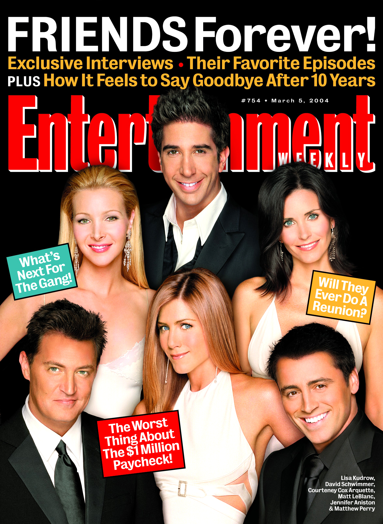 Entertainment Weekly coverIssue# 754 - 5/5/2004Friends