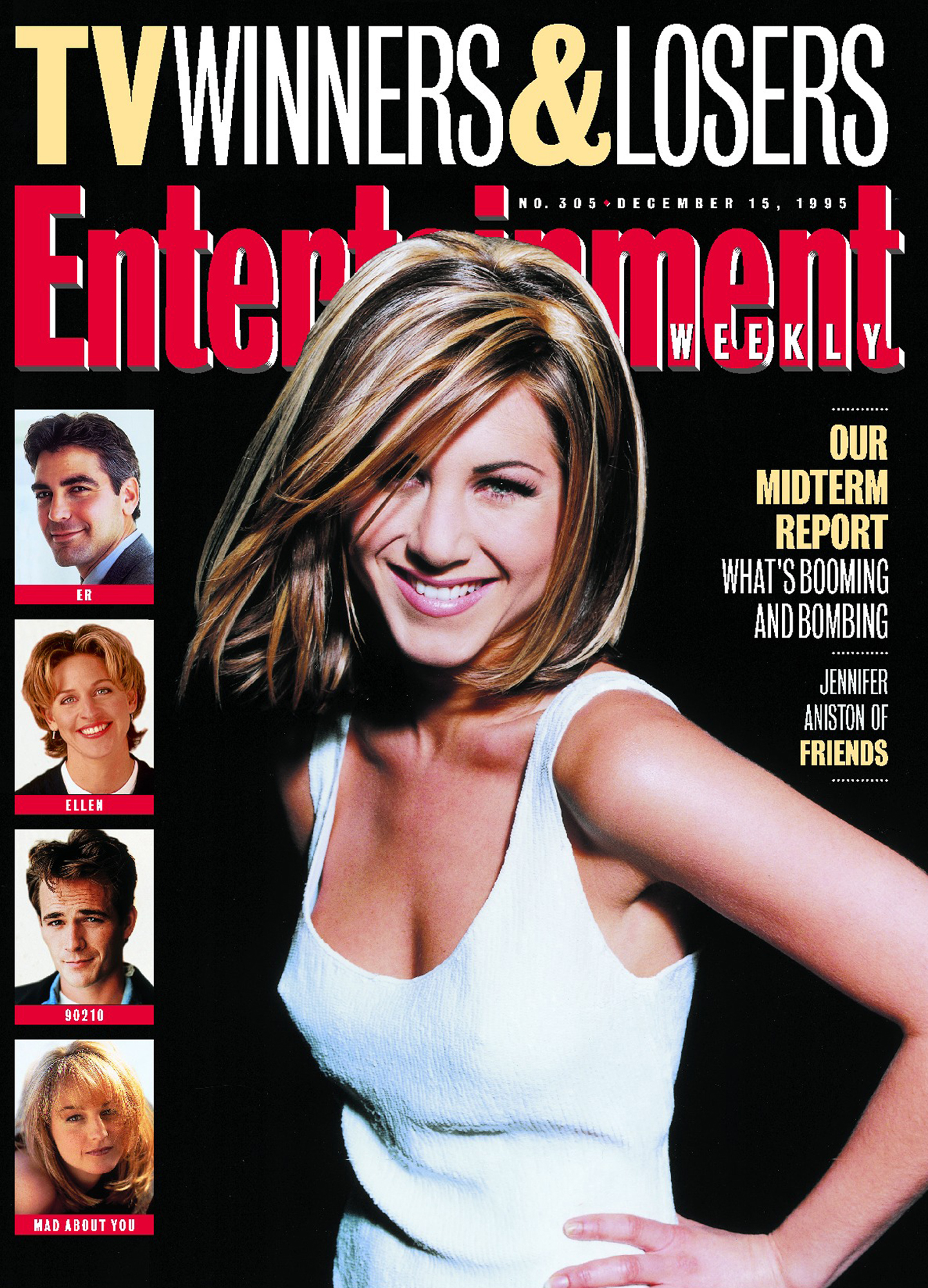 Entertainment Weekly coverIssue# 305 - 12/15/1995Jennifer Aniston - Friends