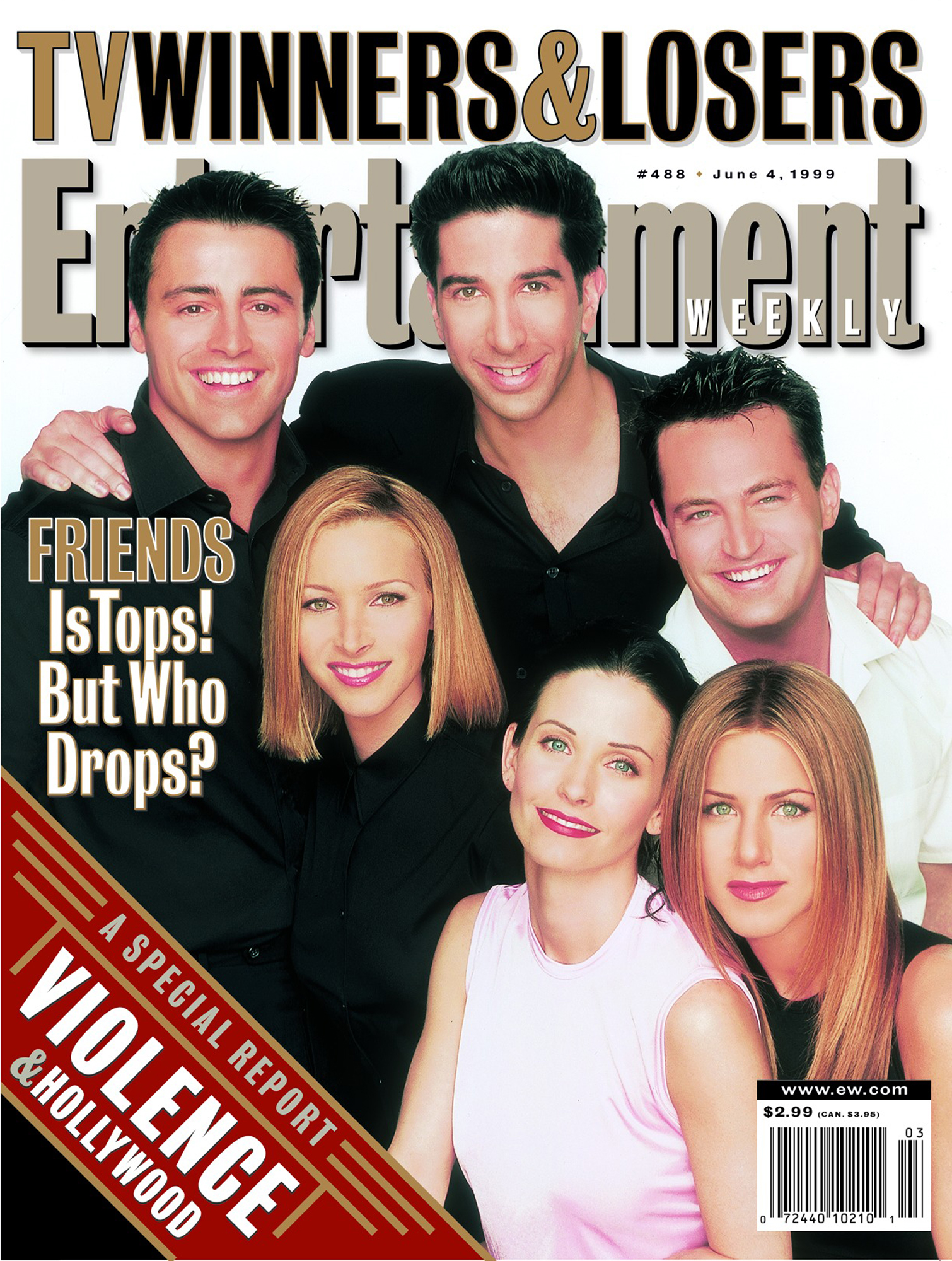 Entertainment Weekly coverIssue# 488 - 6/4/1999Friends
