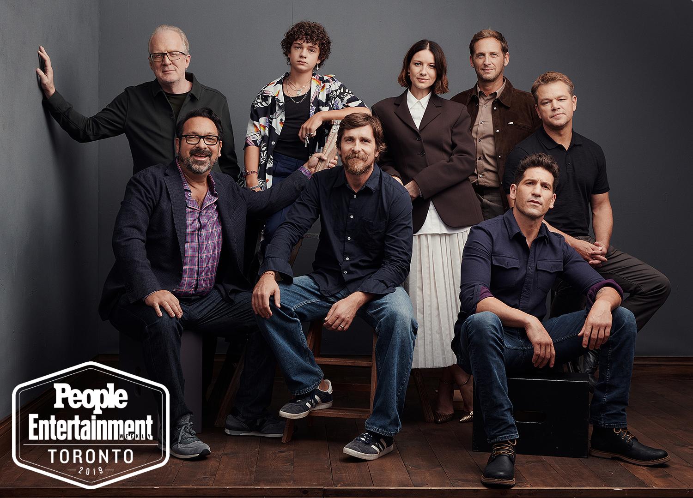 Tracy Letts, Noah Jupe, Caitriona Balfe, Josh Lucas, Matt Damon, James Mangold, Christian Bale, Jon Bernthal