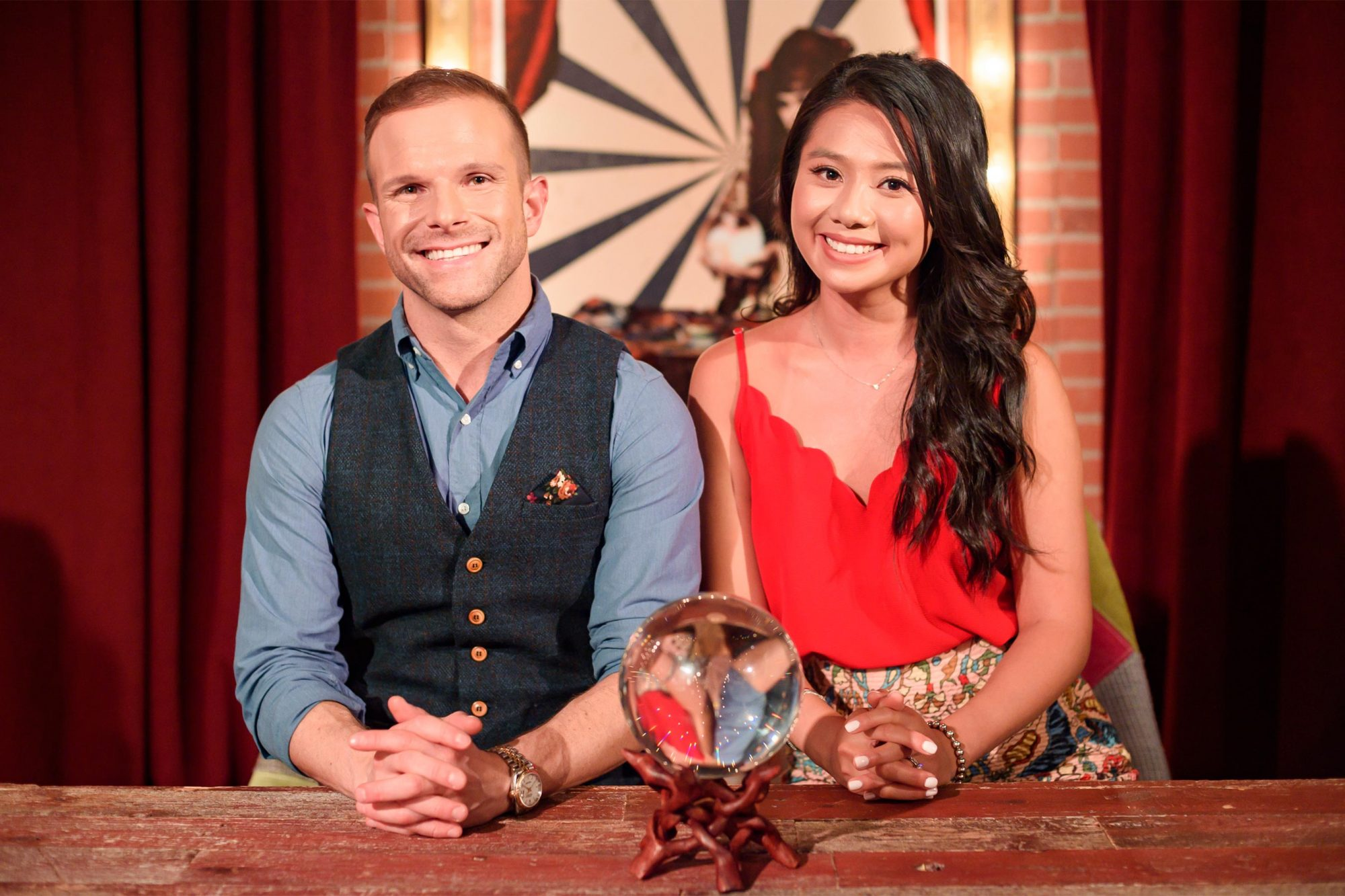 Co-hosts Zac Young and Vivian Chan, as seen on Freakshow Cakes, Season 1. CR: Scott Gries/Cooking Channel