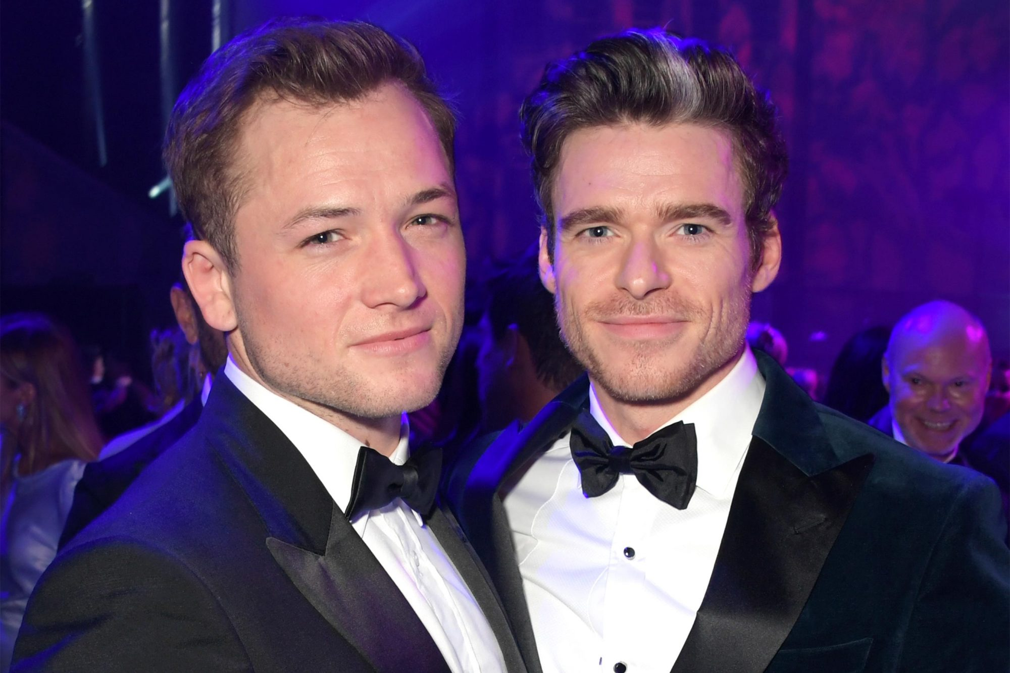 LONDON, ENGLAND - SEPTEMBER 03: Taron Egerton and Richard Madden attend the the GQ Men Of The Year Awards 2019 in association with HUGO BOSS at the Tate Modern on September 3, 2019 in London, England. (Photo by David M. Benett/Dave Benett/Getty Images for HUGO BOSS)