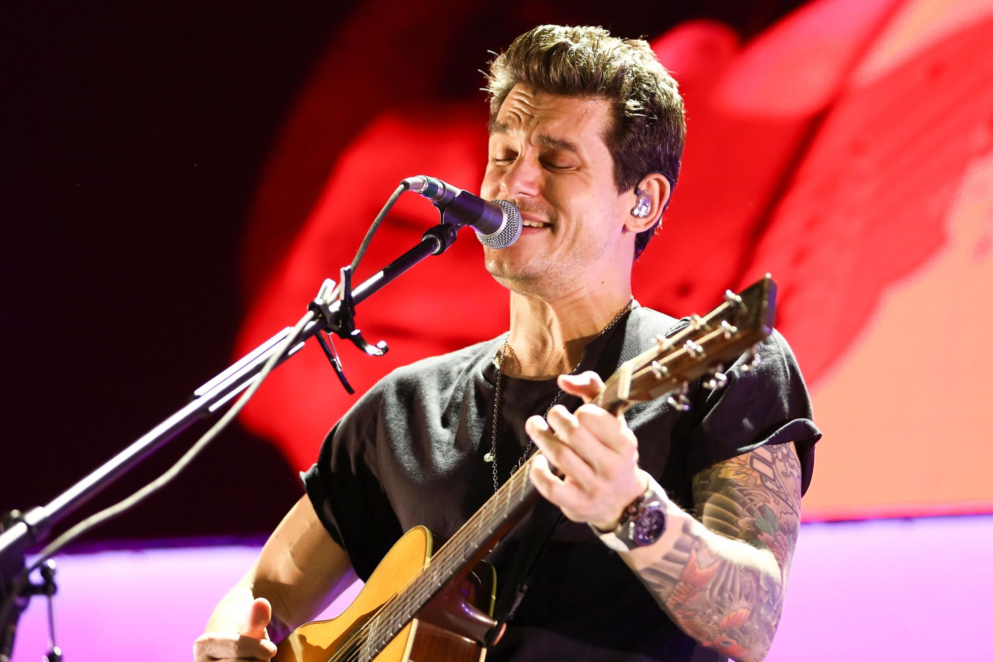 NASHVILLE, TENNESSEE - AUGUST 08: John Mayer performs onstage at Bridgestone Arena on August 08, 2019 in Nashville, Tennessee. (Photo by Leah Puttkammer/Getty Images)