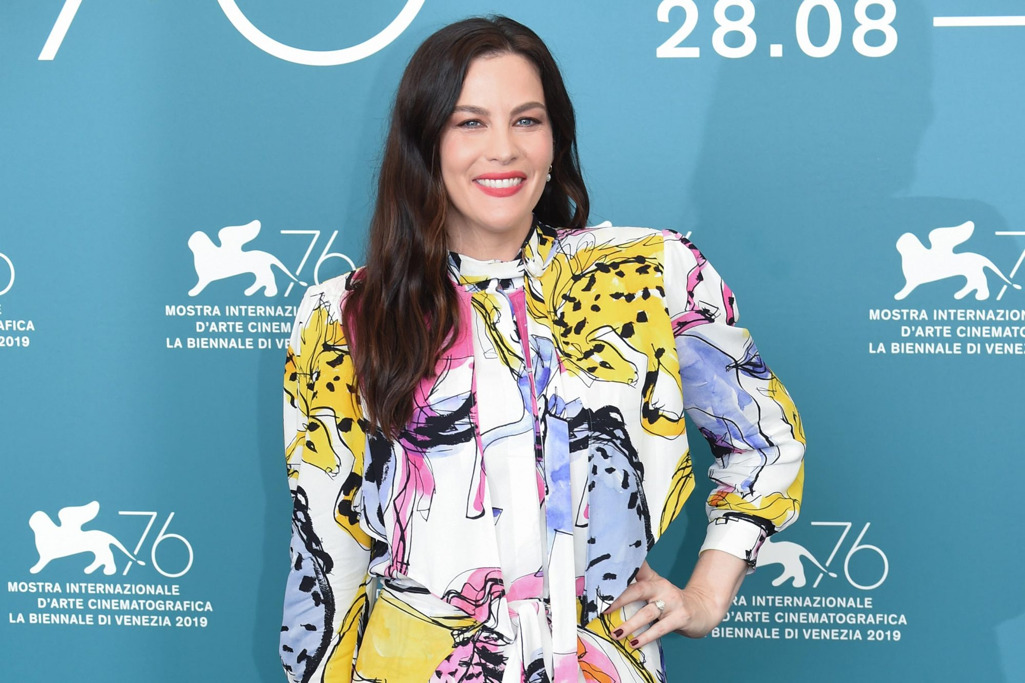 "VENICE, ITALY - AUGUST 29: Liv Tyler attends ""Ad Astra"" photocall during the 76th Venice Film Festival at Sala Grande on August 29, 2019 in Venice, Italy. (Photo by Stephane Cardinale - Corbis/Corbis via Getty Images)"