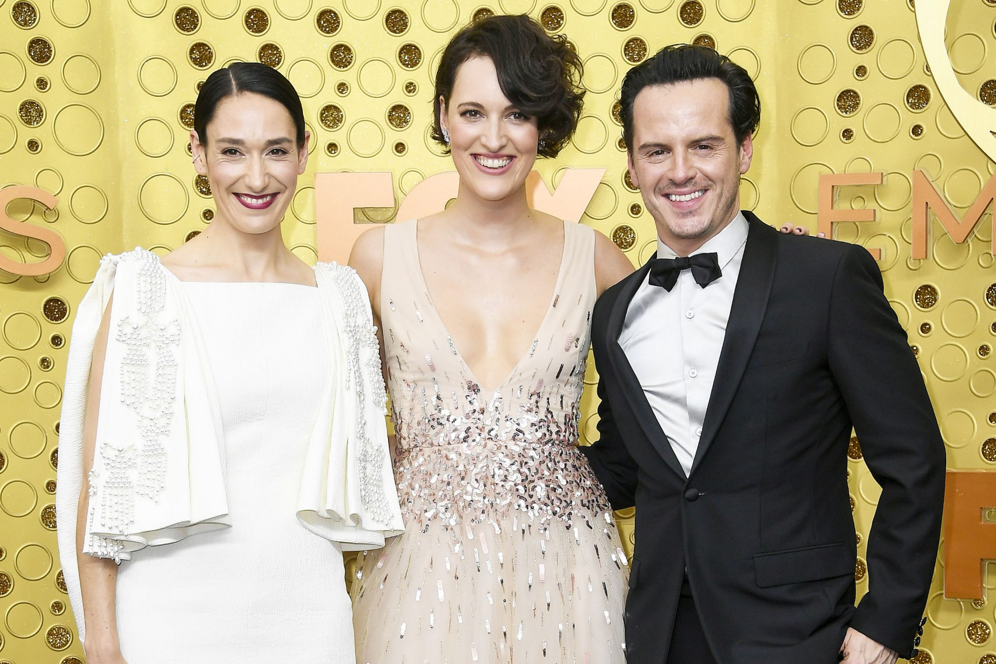 LOS ANGELES, CALIFORNIA - SEPTEMBER 22: (L-R) Sian Clifford, Phoebe Waller-Bridge, and Andrew Scott attend the 71st Emmy Awards at Microsoft Theater on September 22, 2019 in Los Angeles, California. (Photo by Frazer Harrison/Getty Images)