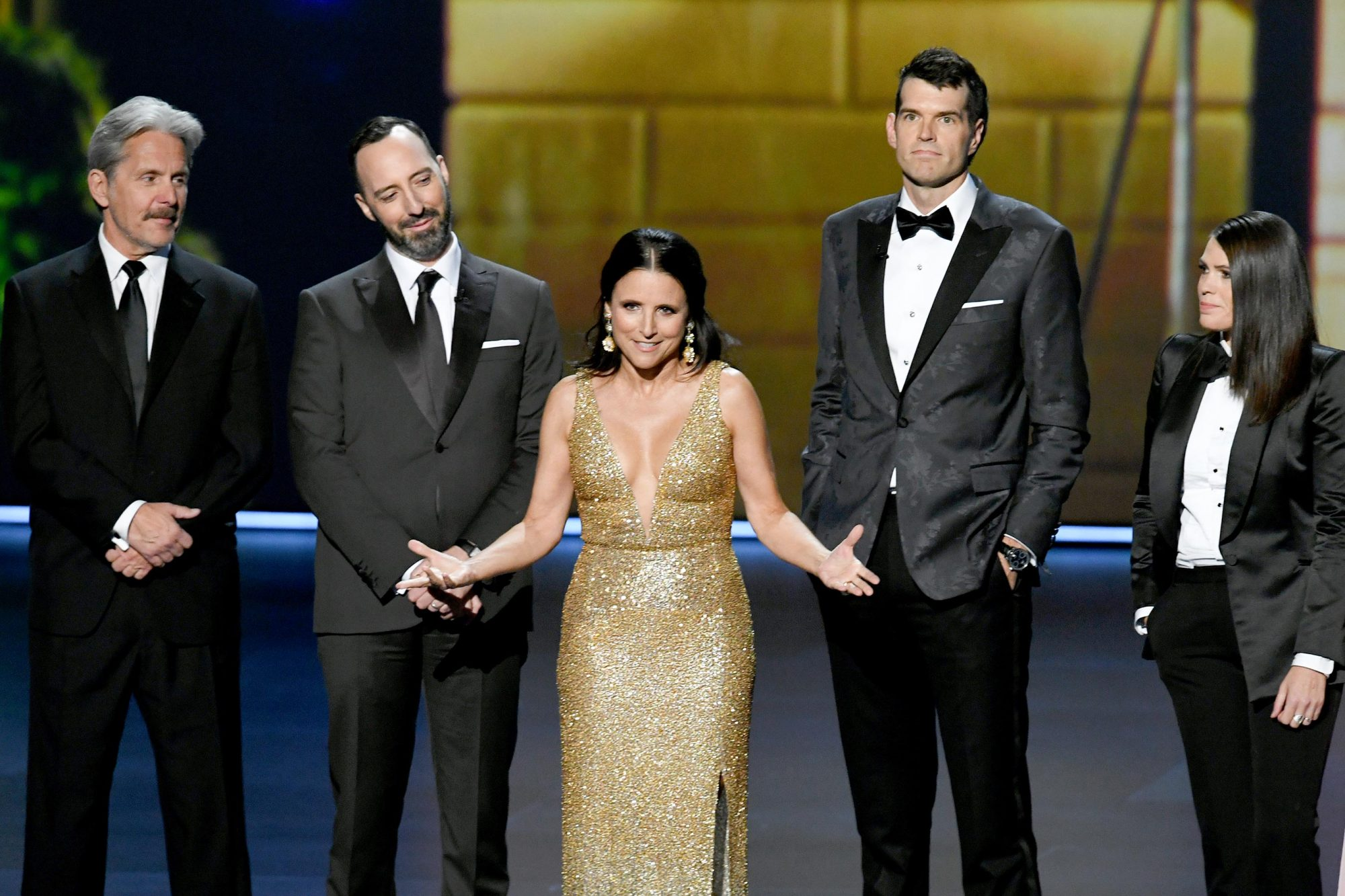 Gary Cole, Tony Hale, Julia Louis-Dreyfus, Timothy Simons, and Clea DuVall