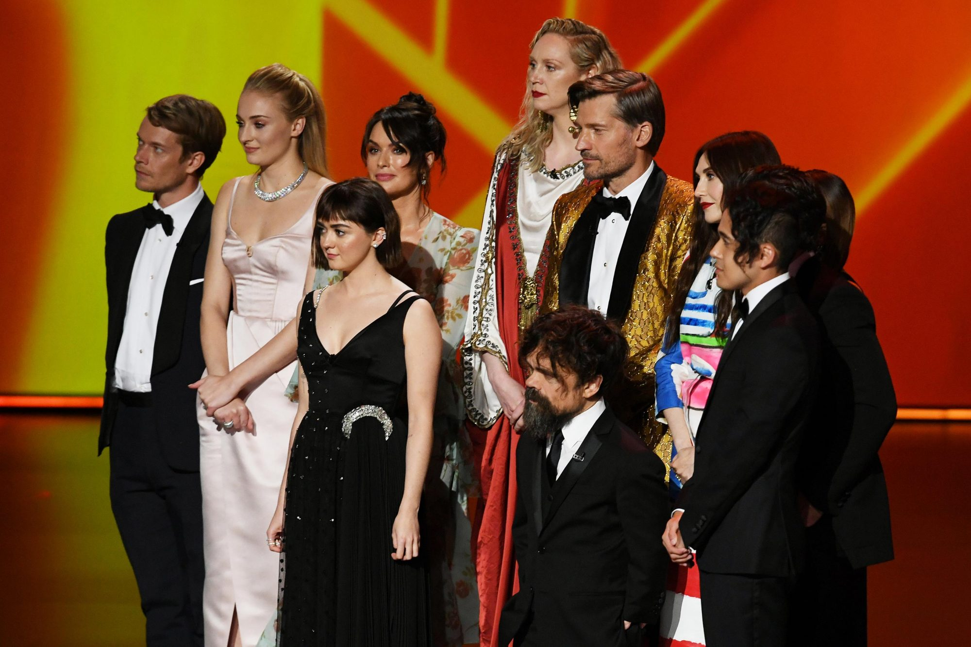Alfie Allen, Sophie Turner, Maisie Williams, Lena Headey, Gwendoline Christie, Nikolaj Coster-Waldau, Peter Dinklage, and Carice van Houten