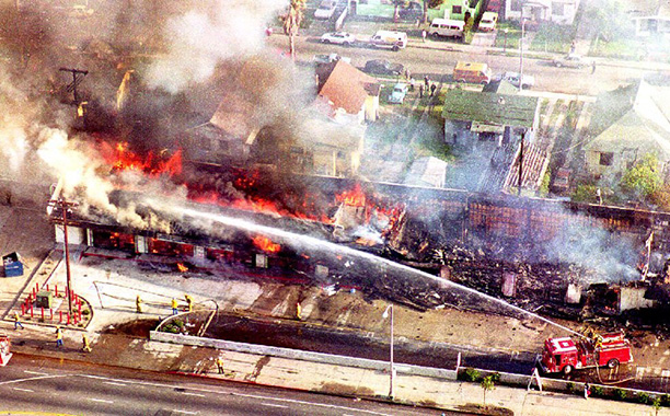 Riots break out in L.A. after the Rodney King verdict (Late April-Early May 1992)