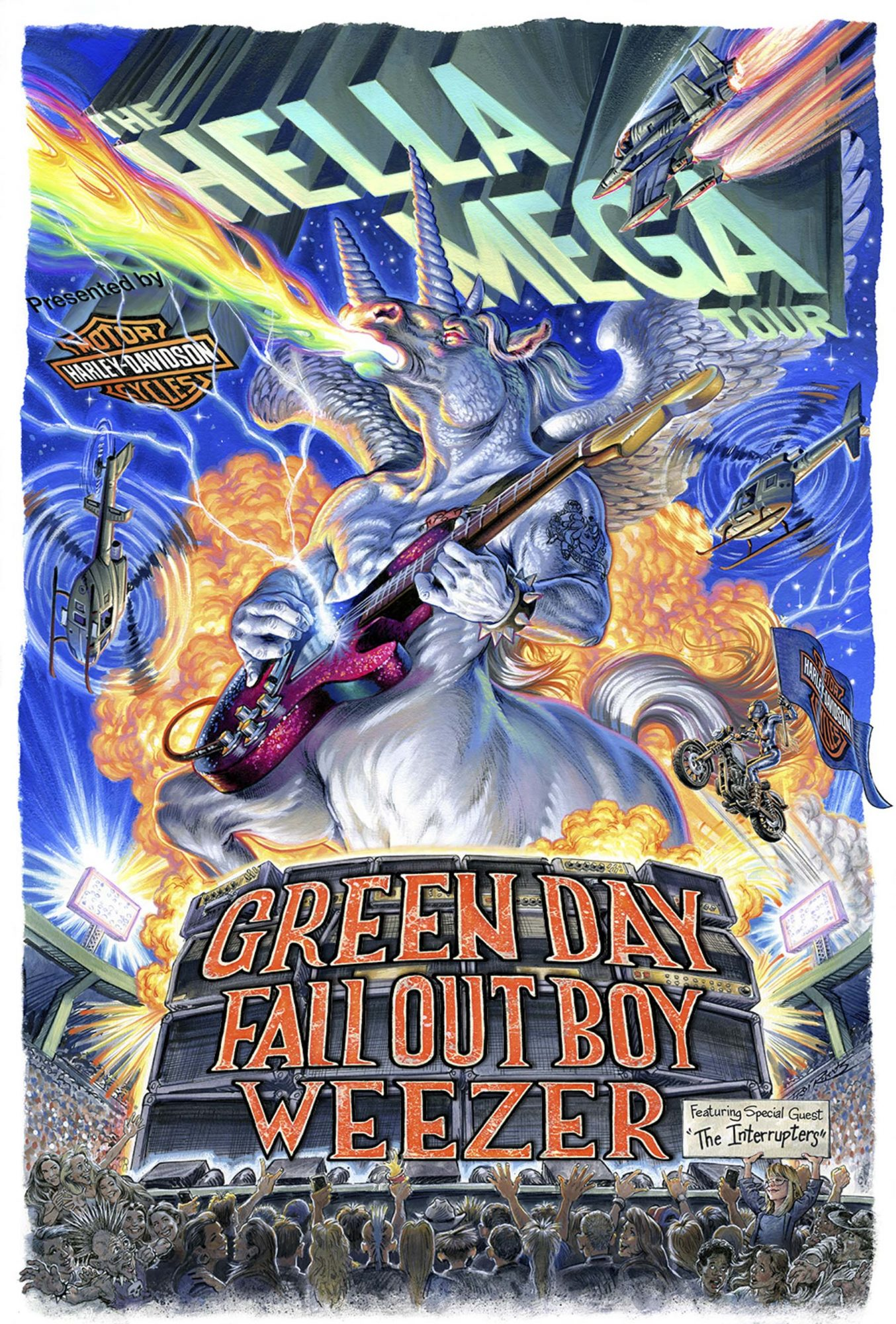 The Hella Mega Tour poster https://twitter.com/GreenDay/status/1171459311987392514 CR: Green Day/Twitter