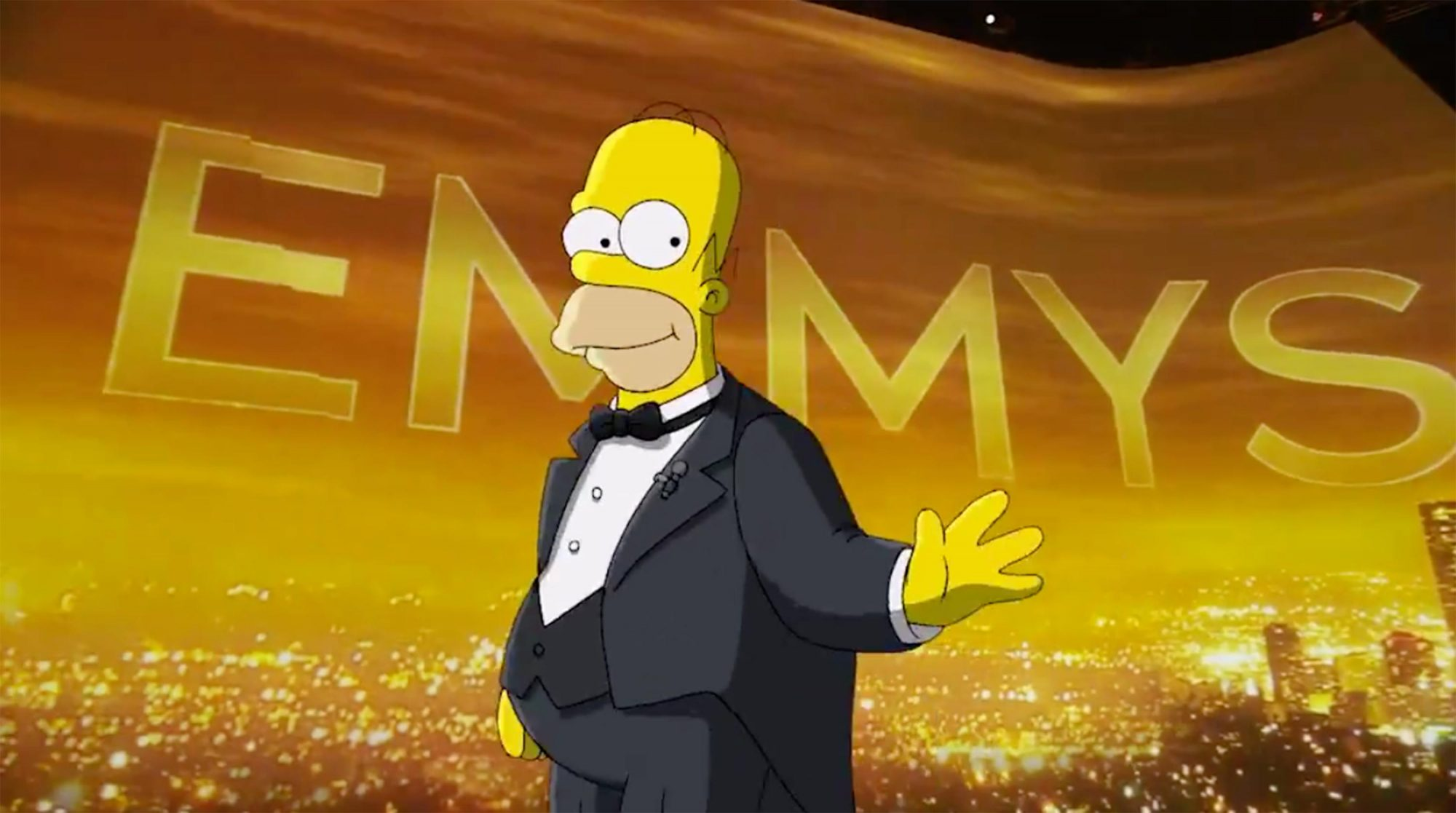 Homer Simpson hosting Emmy Awards