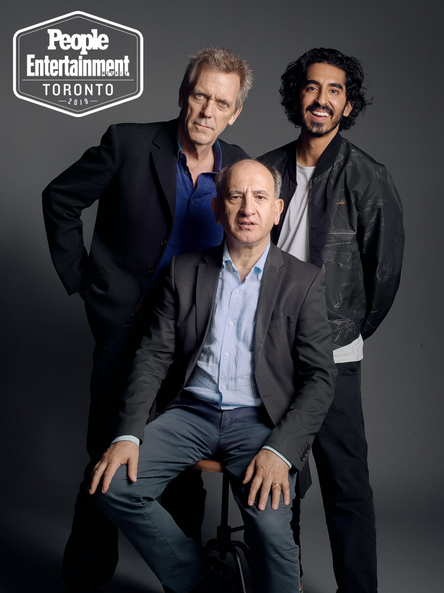 Hugh Laurie, Dev Patel, and Armando Iannucci