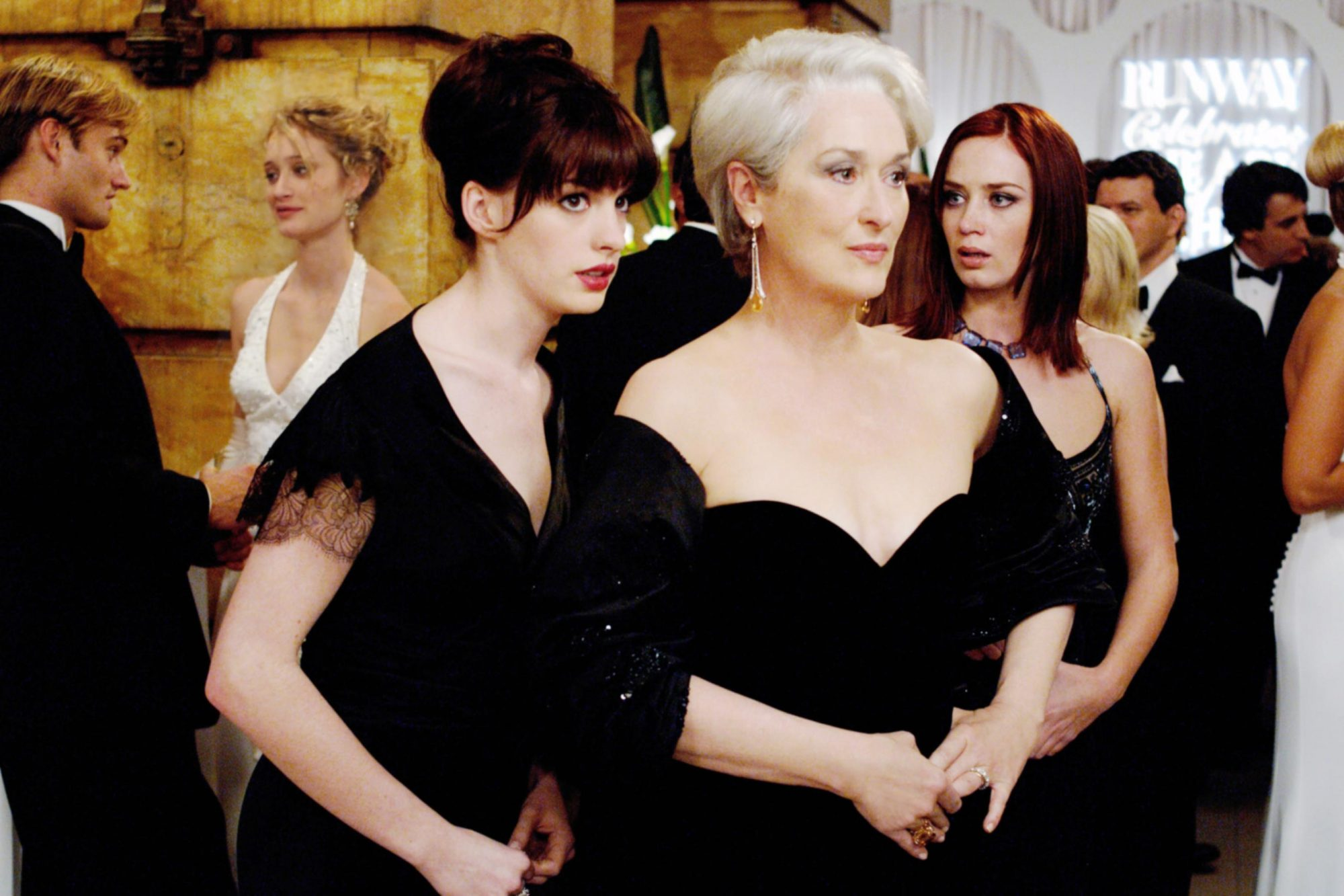 THE DEVIL WEARS PRADA, Anne Hathaway, Meryl Streep, Emily Blunt, 2006, TM & Copyright (c) 20th Centu