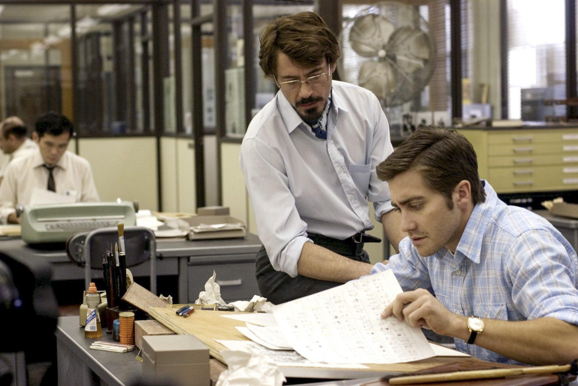 ZODIAC, Robert Downey Jr., Jake Gyllenhaal, 2007. ©Paramount/courtesy Everett Collection
