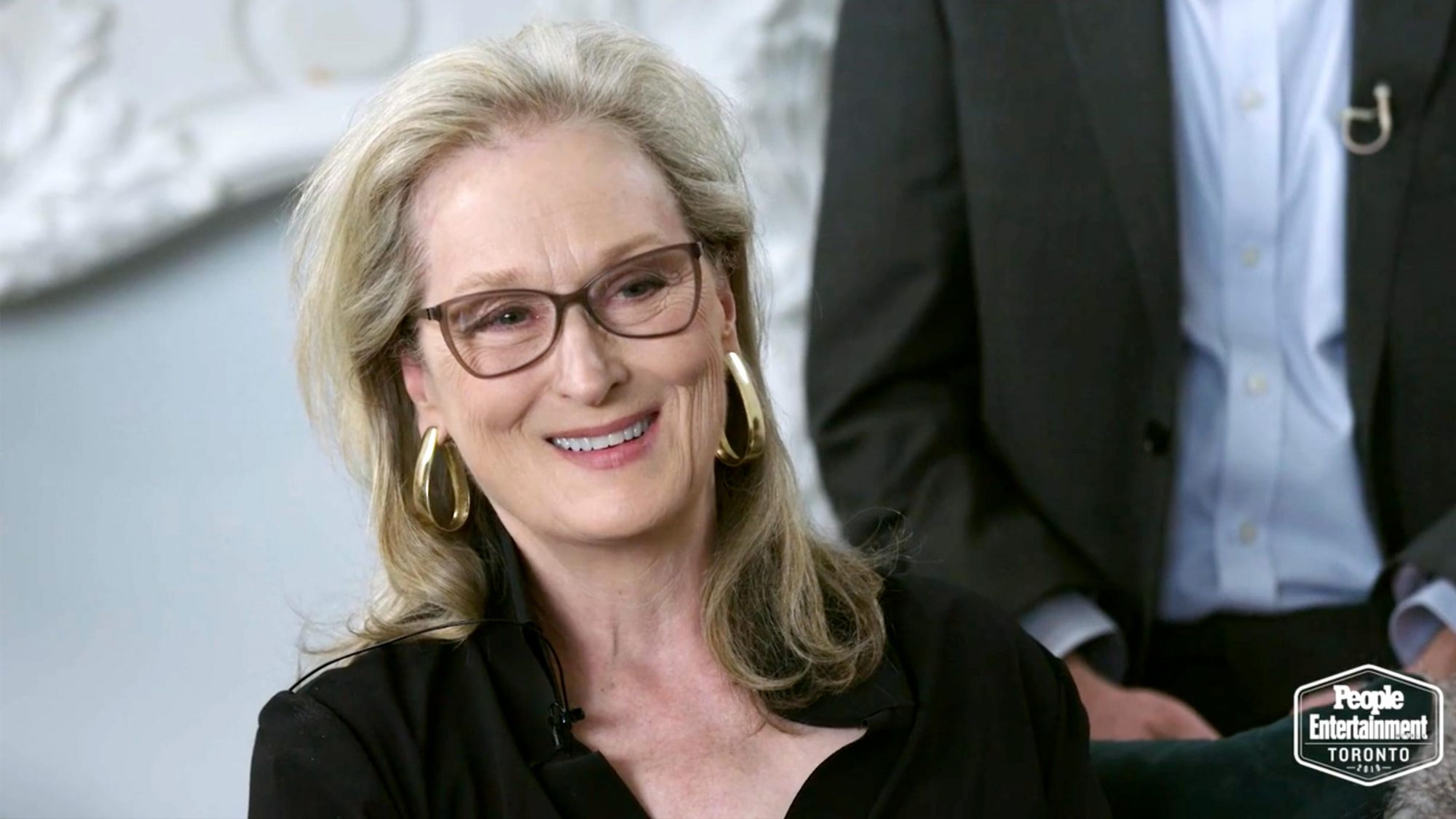 Meryl Streep The Laundromat TIFF Interview (screen grab)