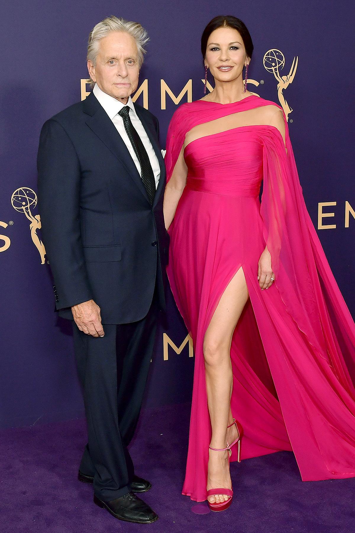 Michael Douglas (L) and Catherine Zeta-Jones