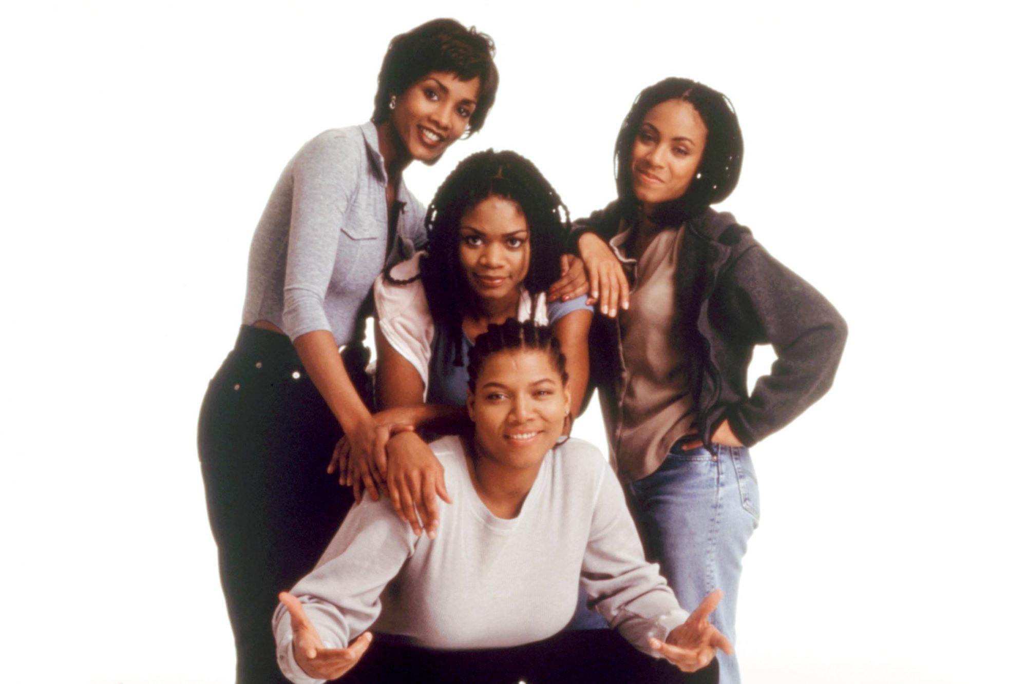 SET IT OFF, back row: Vivica A. Fox, Kimberly Elise, Jada Pinkett, front: Queen Latifah, 1996. (c)New Line Cinema/courtesy Everett Collection