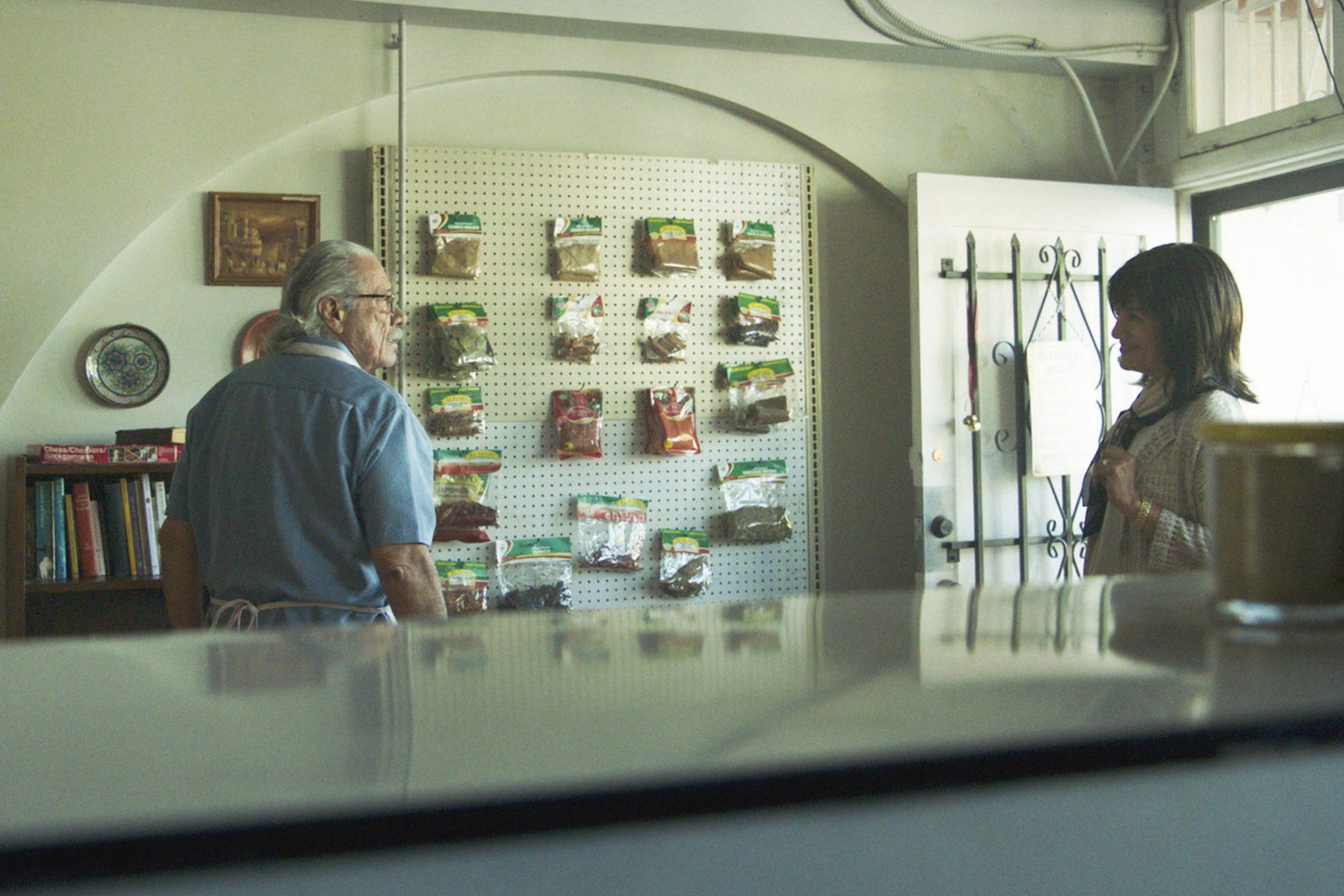 """MAYANS M.C. -- """"Xaman-Ek"""" -- Season 2, Episode 2 (Airs Tuesday, September 9, 10:00 p.m. e/p) Pictured: (l-r) Edward James Olmos as Felipe Reyes, Ada Maris as Dita Galindo. CR: FX"""