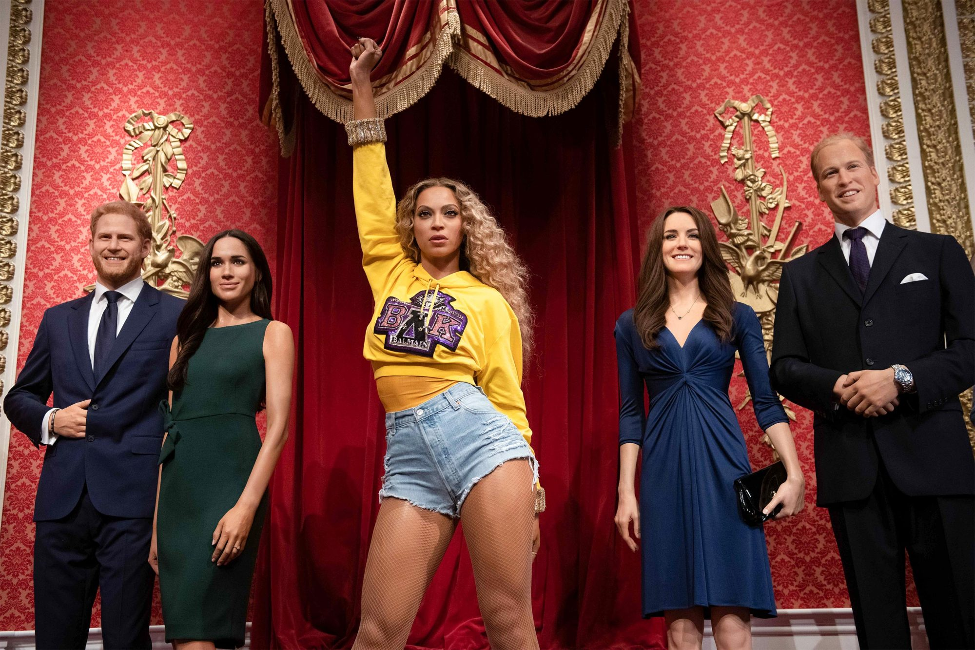 Queen Bey moves in with the Royals at Madame Tussauds London: the Homecoming star's new figure will steal The Queen's crown to mark launch day before taking centre stage in the world-famous attraction's music zone on Friday 20th September. Tickets available at www.madametussauds.com/london