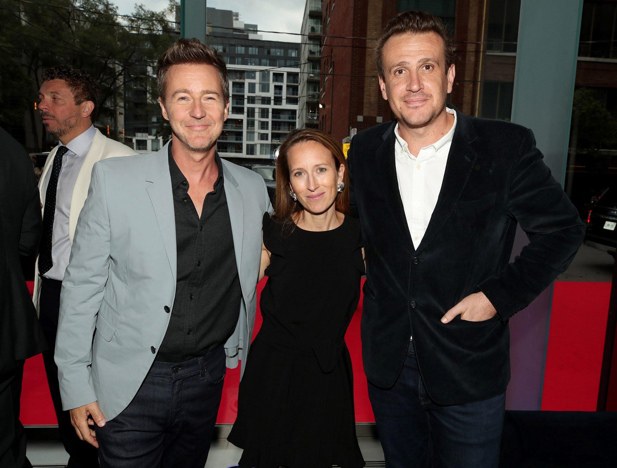 Edward Norton, Shauna Robertson and Jason Segel