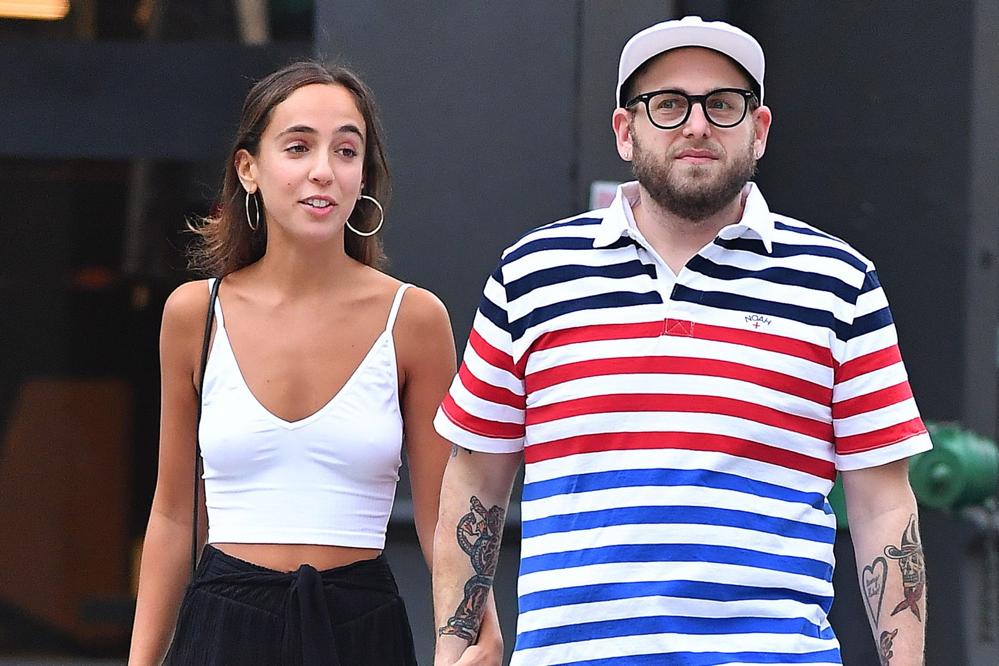 Jonah Hill and Gianna Santos
