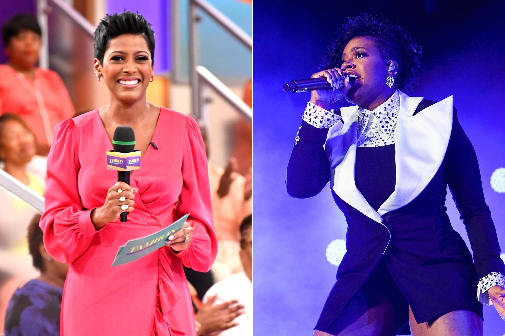 """Tamron Hall on """"TAMRON"""" CR: Jeffrey Neira/ABC NEW ORLEANS, LA - JULY 08: Fantasia performs onstage during the 2018 Essence Festival at the Mercedes-Benz Superdome on July 8, 2018 in New Orleans, Louisiana. (Photo by Erika Goldring/Getty Images)"""