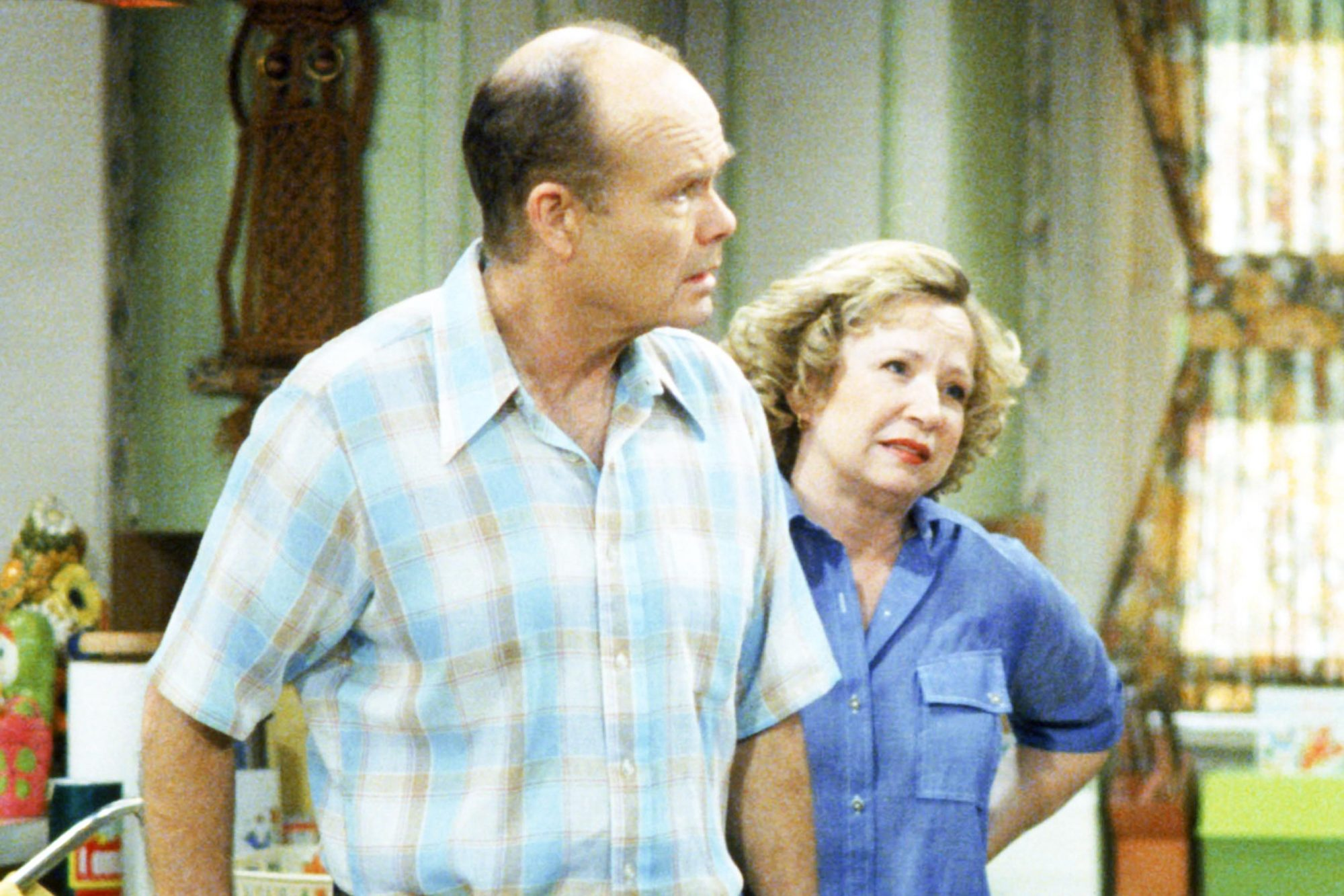 THAT '70s SHOW, ('I Can't Quit You Baby',Season 5, 2002-03), Kurtwood Smith, Debra Jo Rupp, 1998-2006. TM and Copyright © 20th Century Fox Film Corp. All rights reserved. Courtesy: Everett Collection