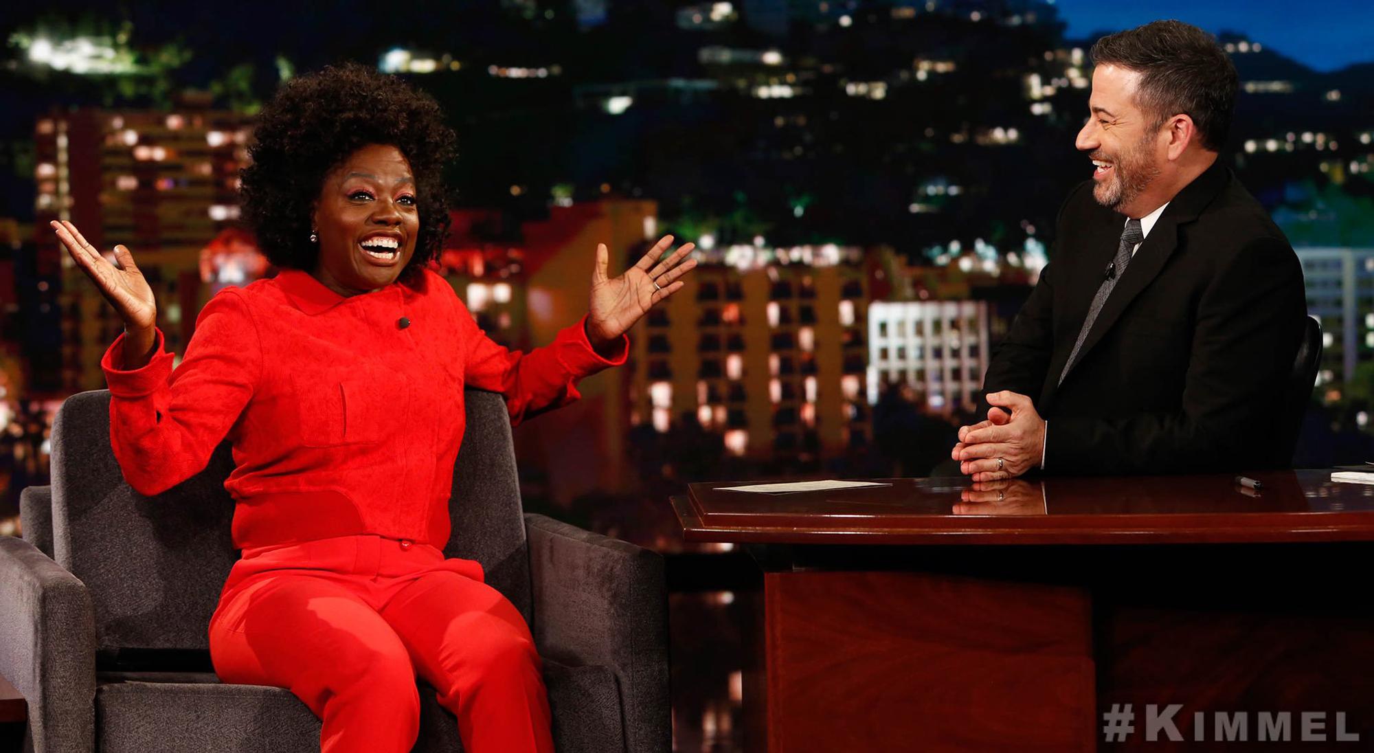 Viola Davis, Jimmy Kimmel