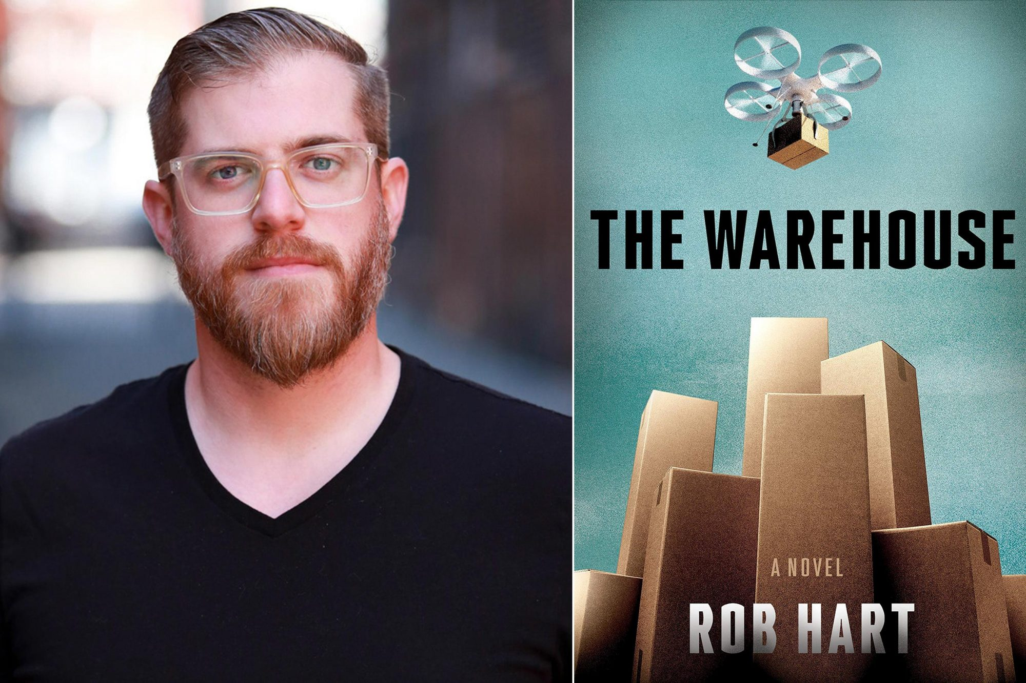 Rob Hart author photo CR: Anna Ty Bergman The Warehouse by Rob Hart CR: Crown
